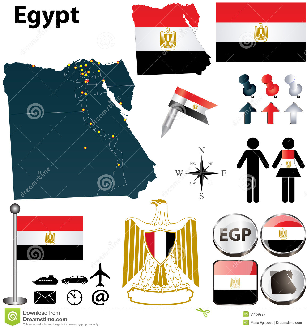 Map Of Egypt Royalty Free Stock Photography Image - Map of egypt vector