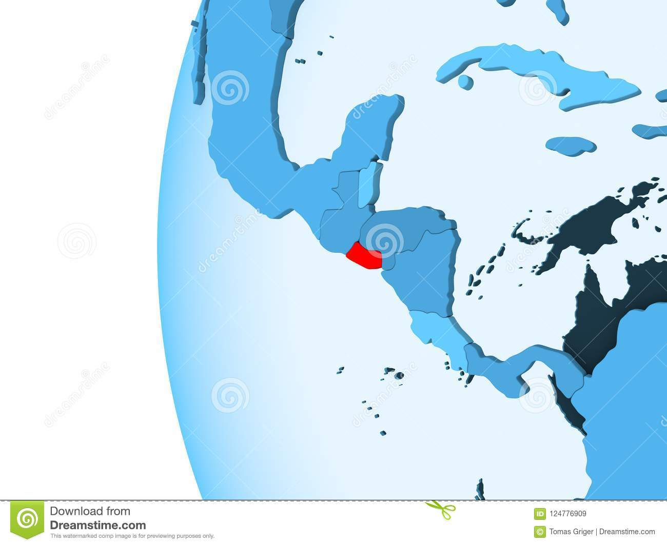 Map of El Salvador stock illustration Illustration of american