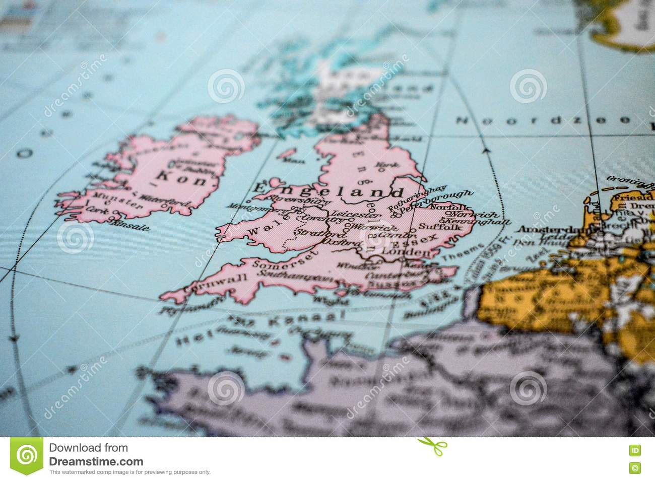Map Of England Europe.Map Of England Stock Image Image Of Europe Leicester 78066125