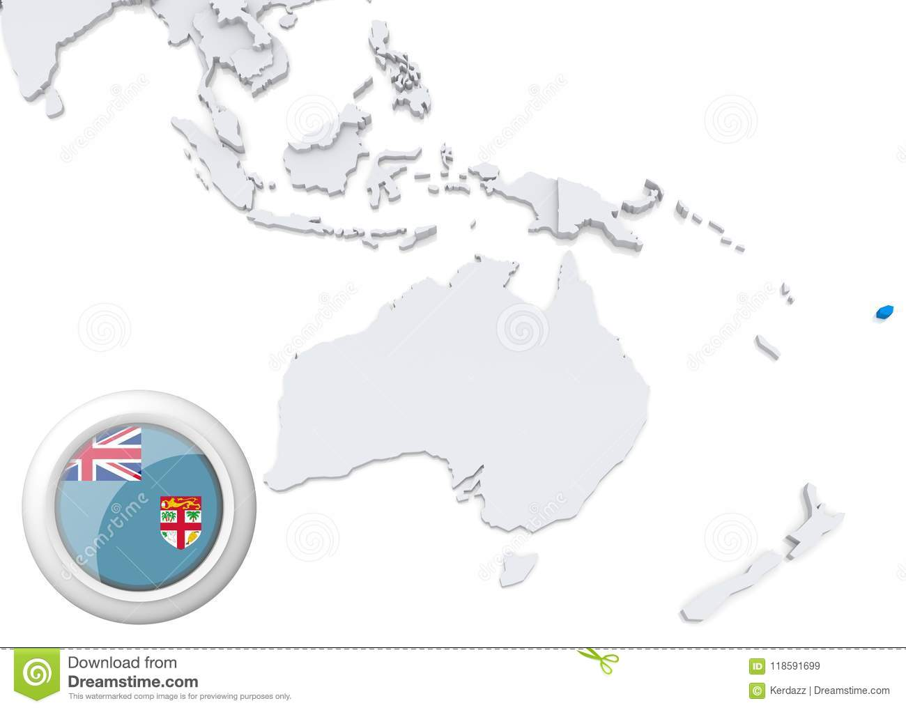 Map of fiji with national flag stock illustration illustration of map of fiji with national flag gumiabroncs Gallery