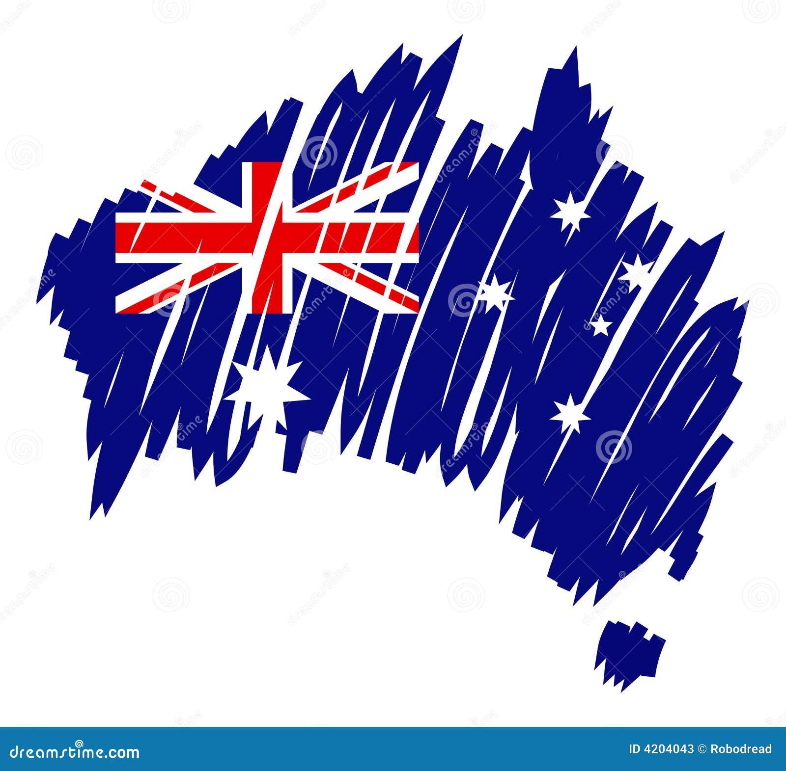 map flag australia vector stock photos image 4204043