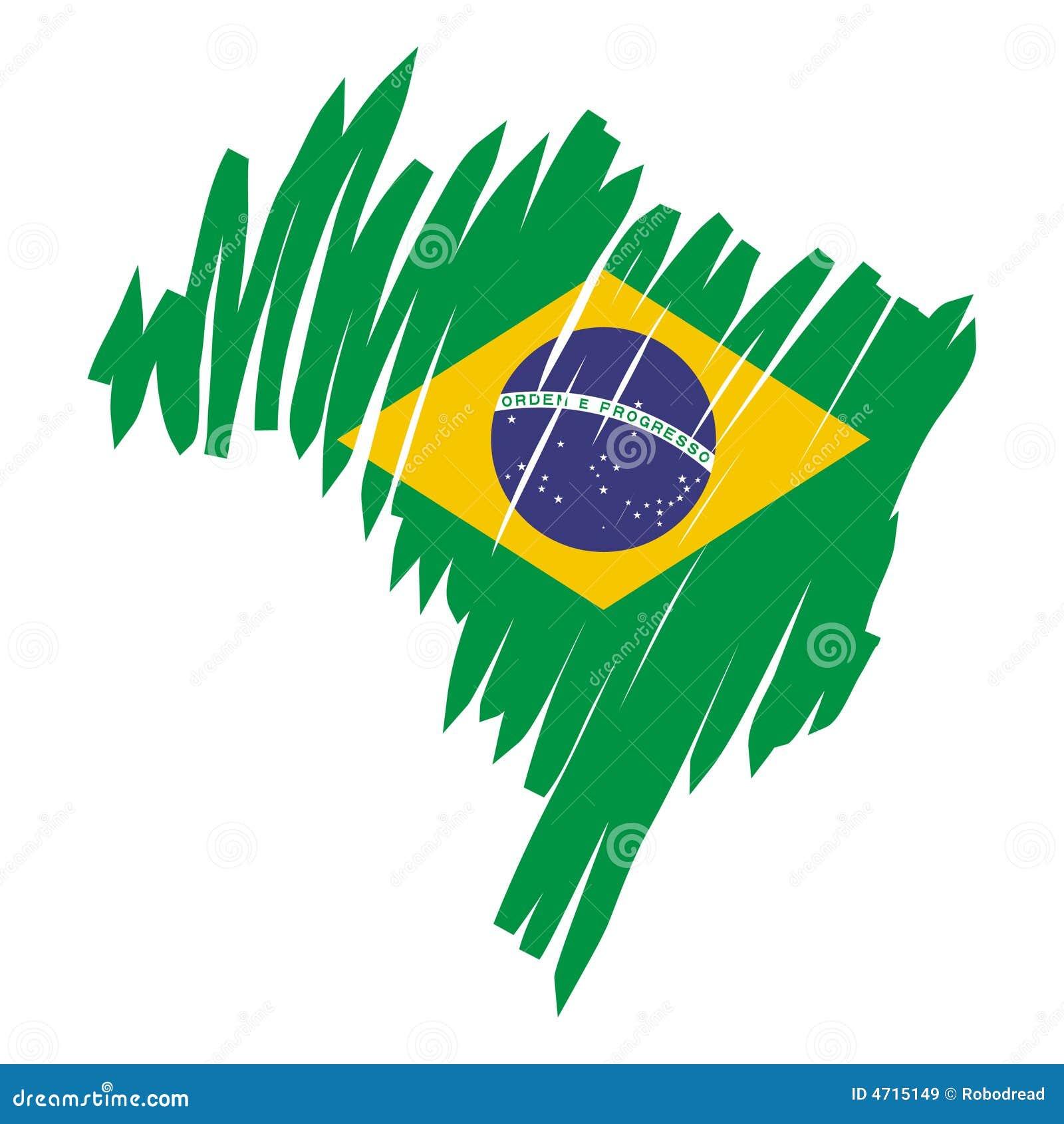 Handmade watercolor brazil flag brasil stock photos freeimages com - Map Flag Brazil Vector Royalty Free Stock Images