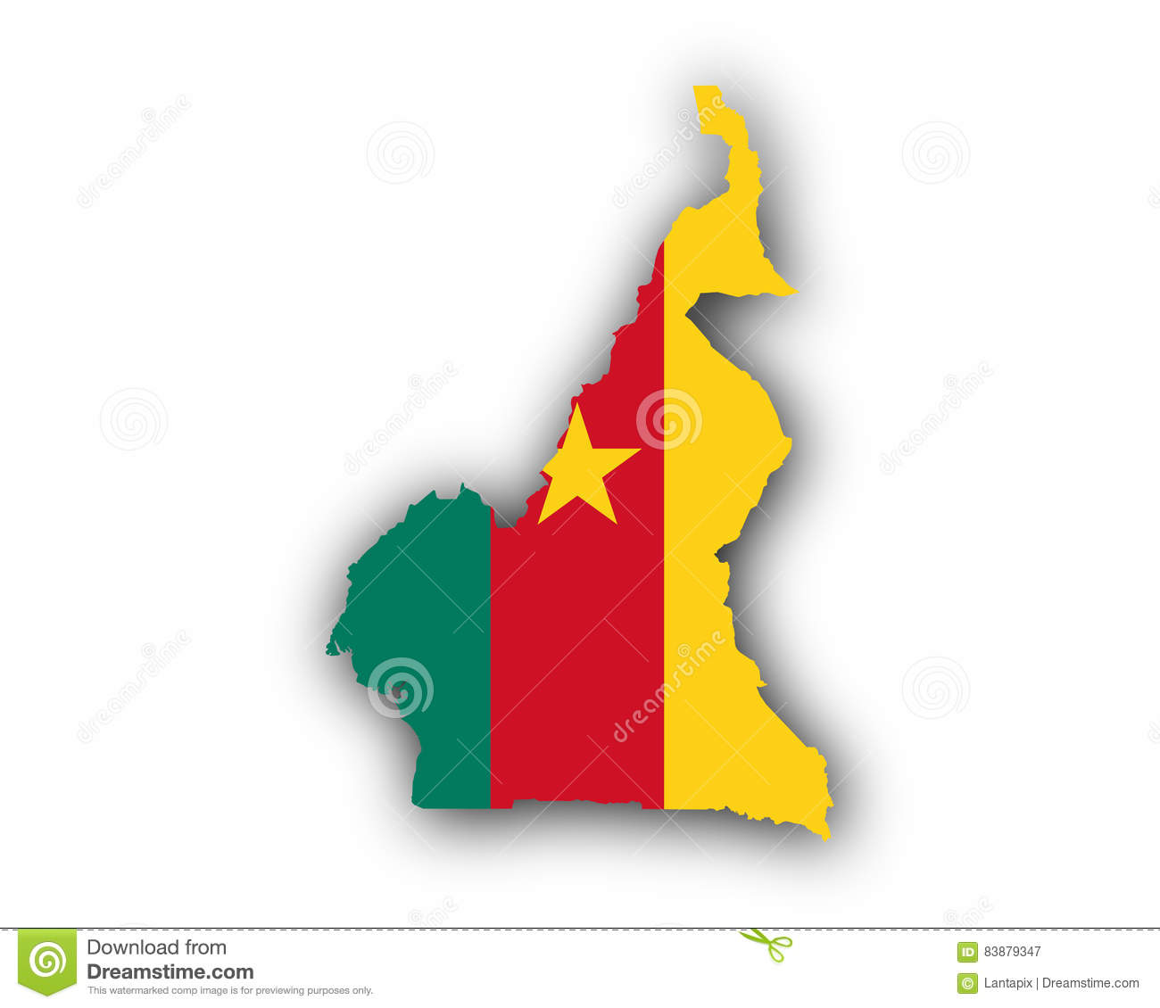 Map and flag of cameroon stock vector illustration of vector 83879347 map and flag of cameroon ccuart Image collections