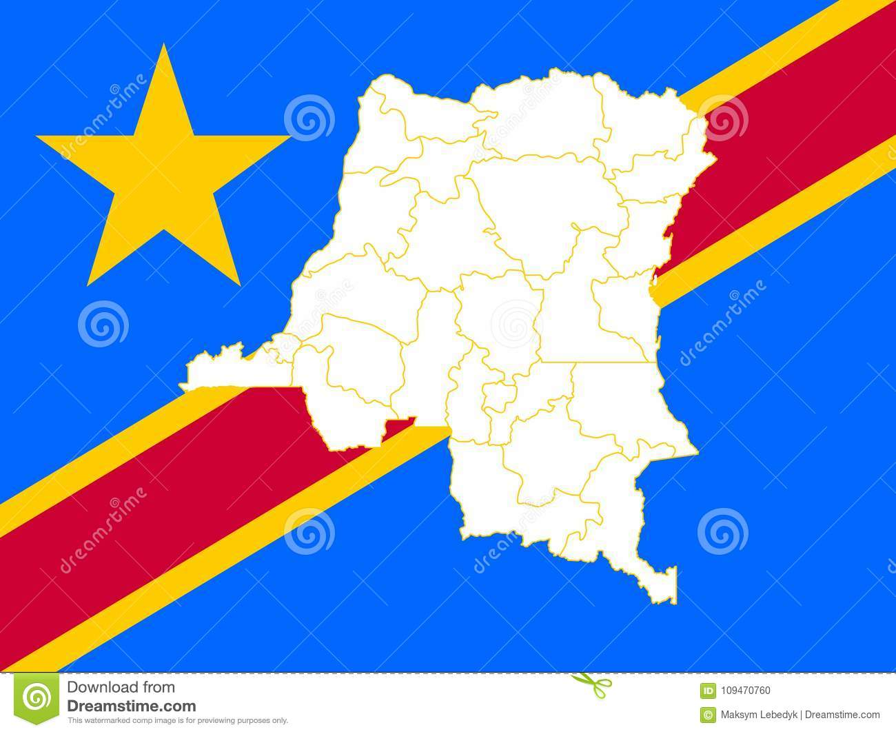 Picture of: Map And Flag Of Democratic Republic Of The Congo Stock Illustration Illustration Of Figure Icon 109470760