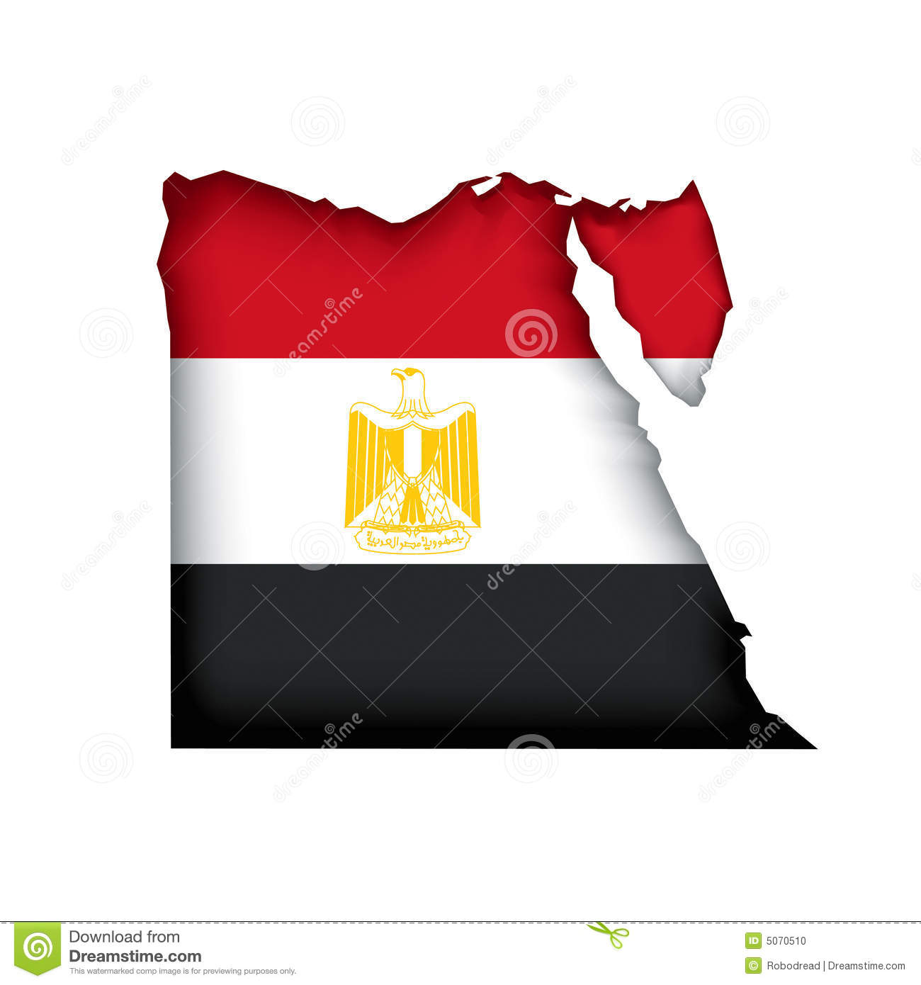 Map Flag Egypt Vector Stock Photo Image - Map of egypt vector free