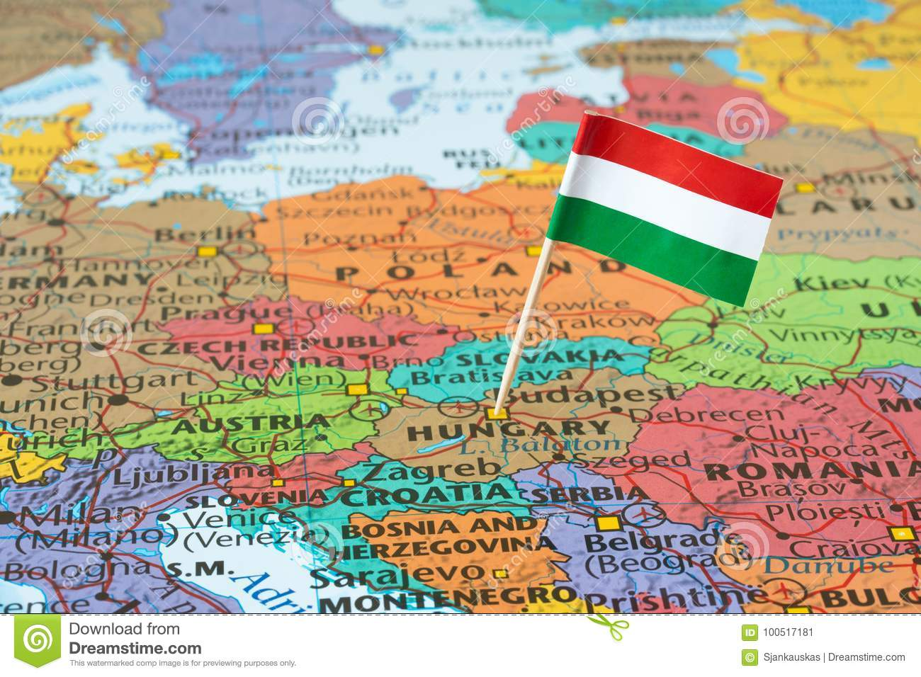 Hungary Map Stock Photos Royalty Free Pictures - Hungary map