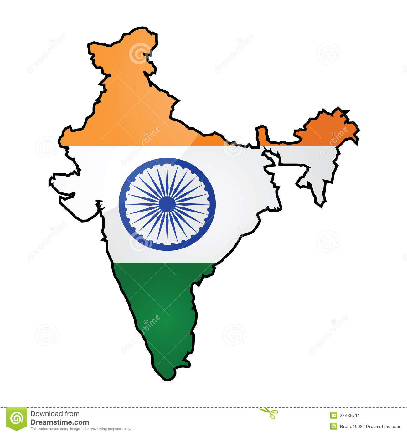 India Map Flag.Map And Flag Of India Stock Vector Illustration Of Drawing 28436711