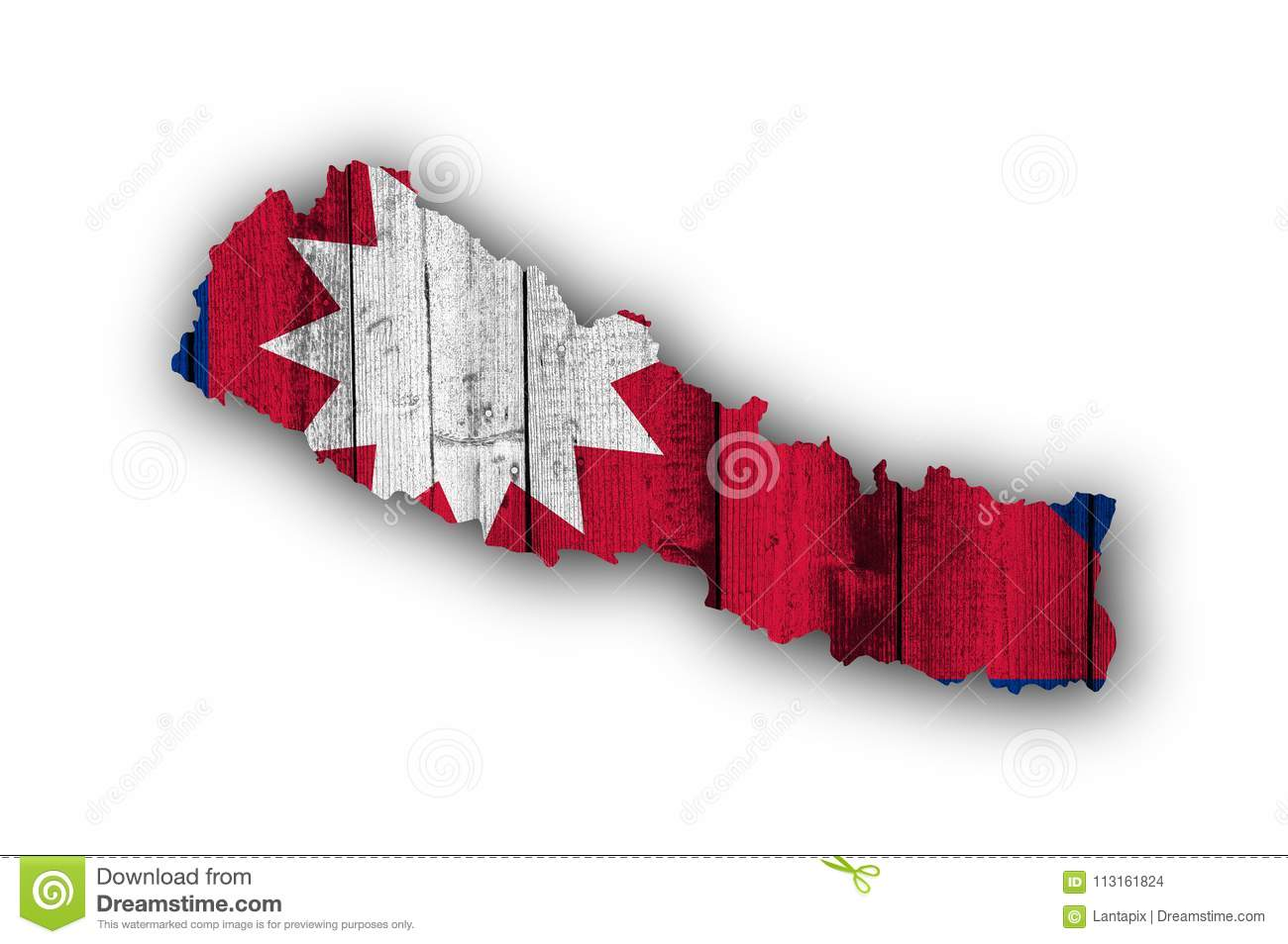 Map And Flag Of Nepal On Weathered Wood Stock Photo - Image of ...