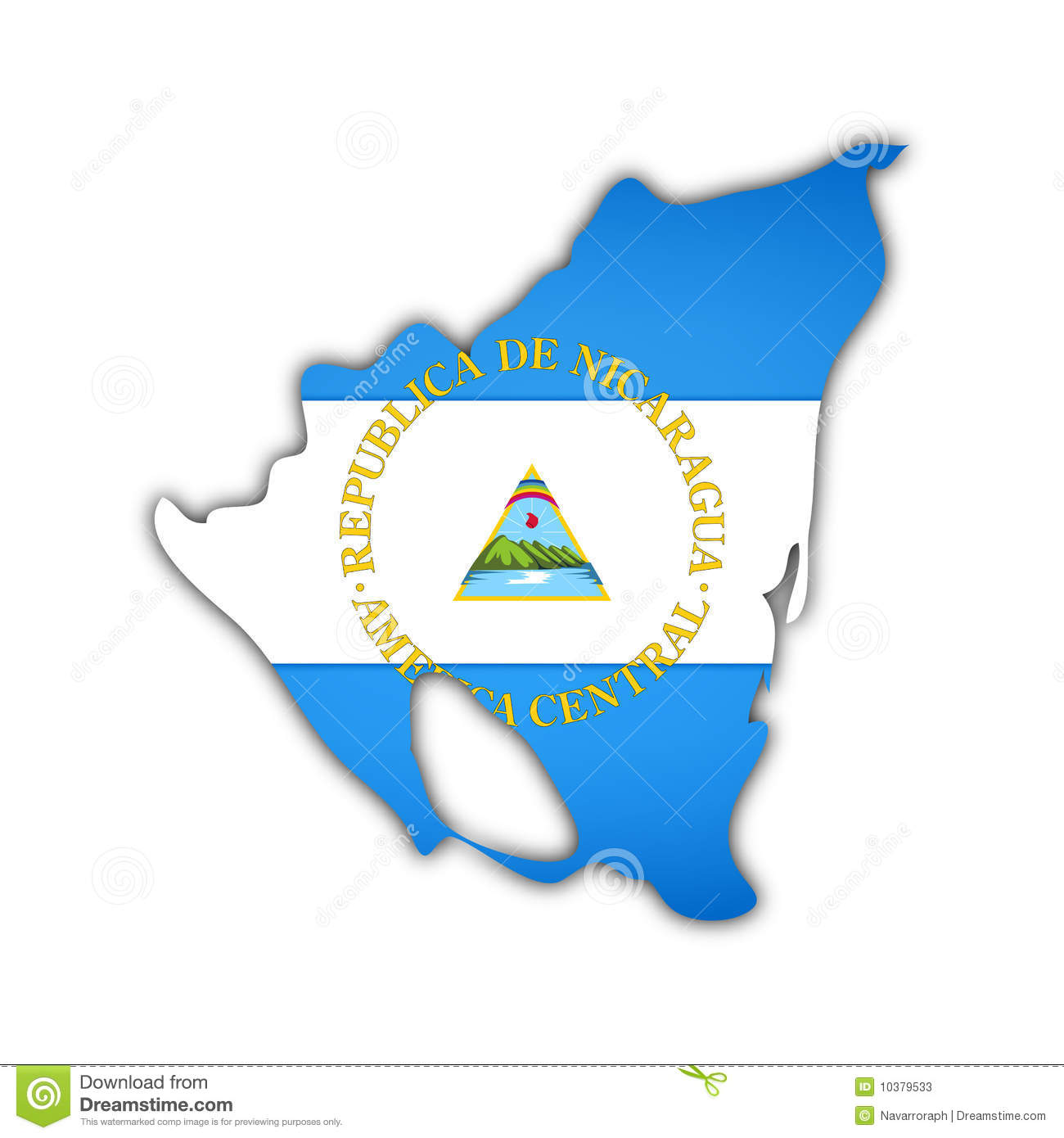 Map And Flag Of Nicaragua Stock Illustration Illustration Of - Nicaragua map download