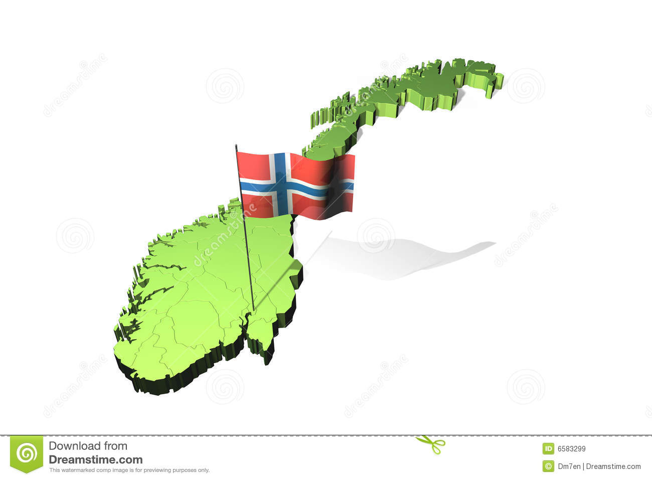 Map And Flag Of Norway Royalty Free Stock Images Image - Norway map free