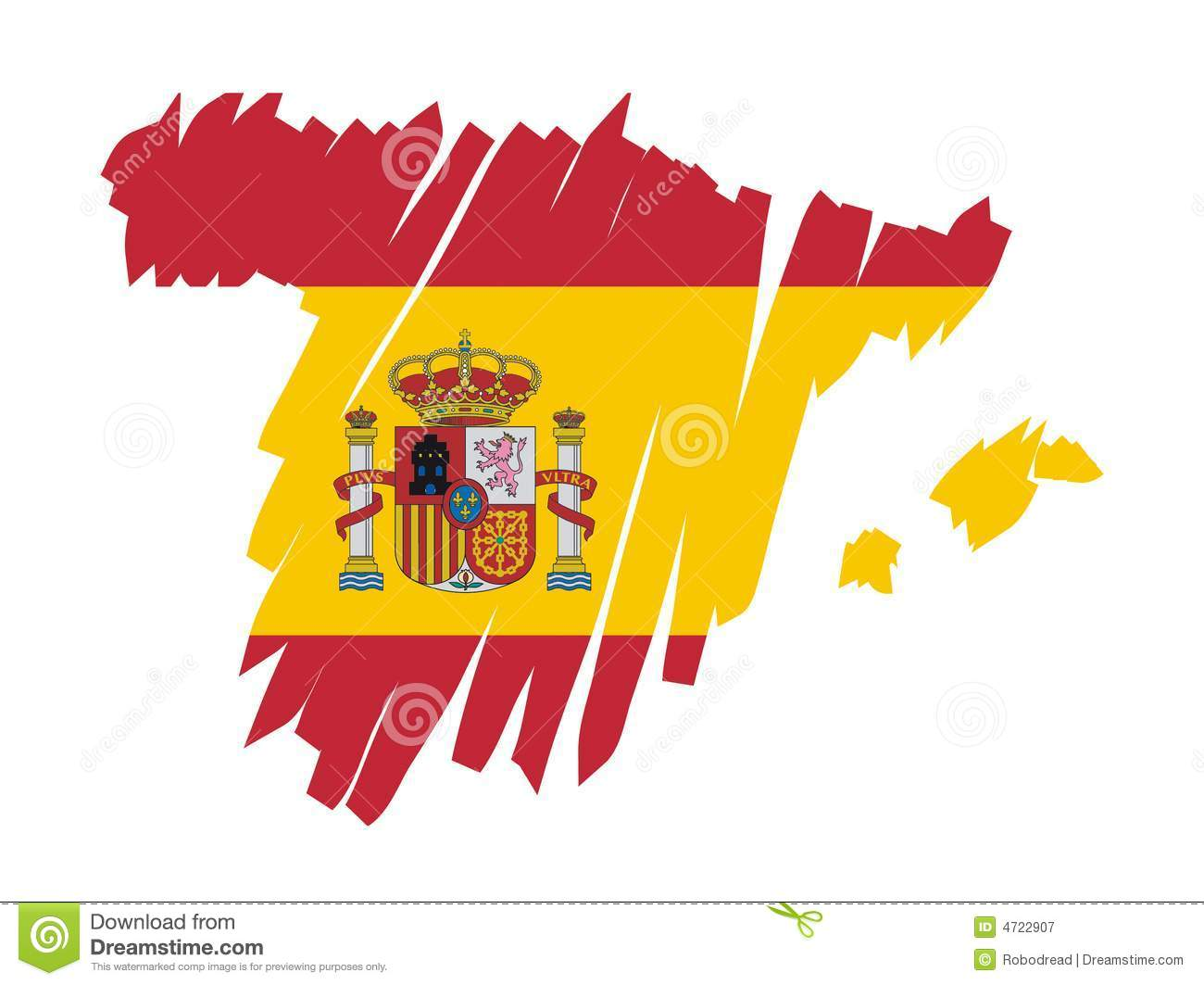 Map Of Spain Vector Free.Map Flag Spain Vector Stock Vector Illustration Of Nation 4722907