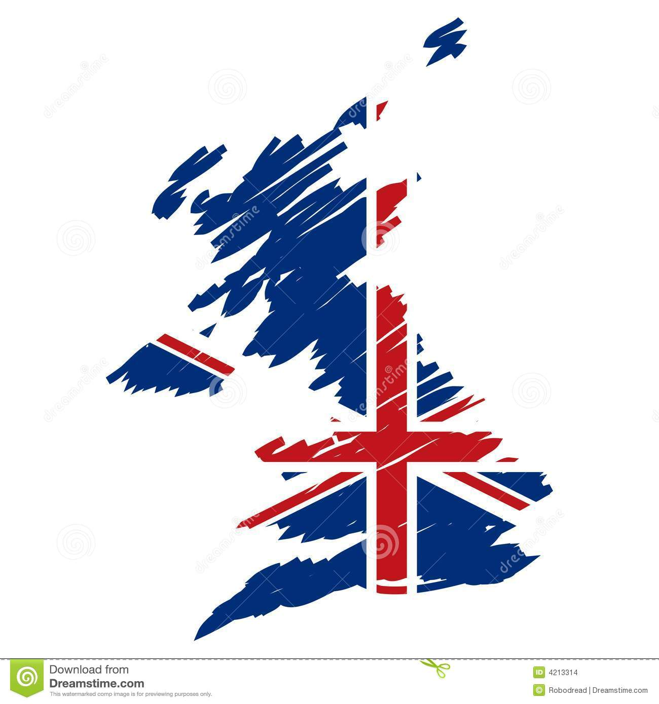map flag of the uk vector stock images image 4213314