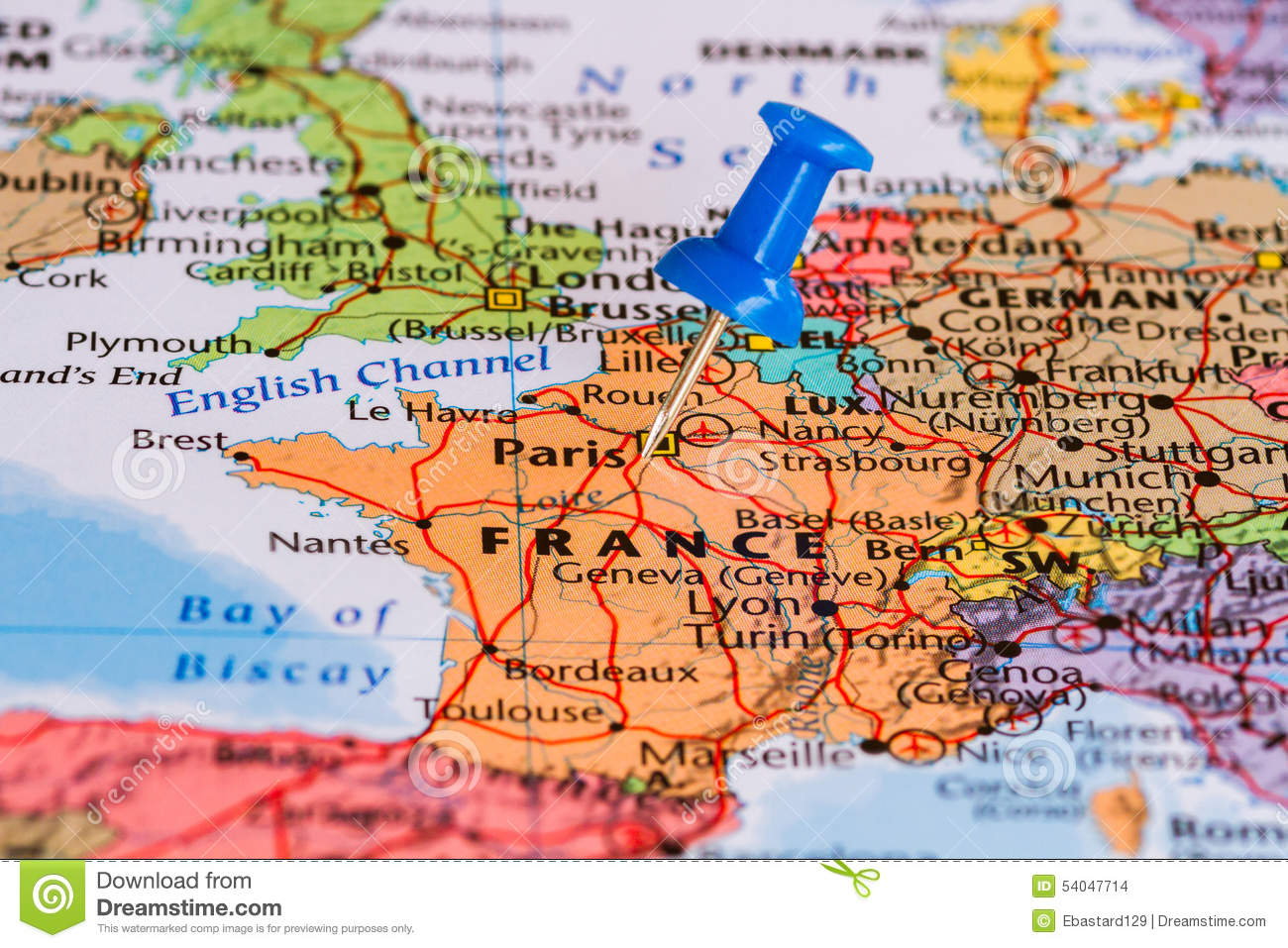 Geographical Map Of France.Map Of France Stock Photo Image Of Design Geographical 54047714