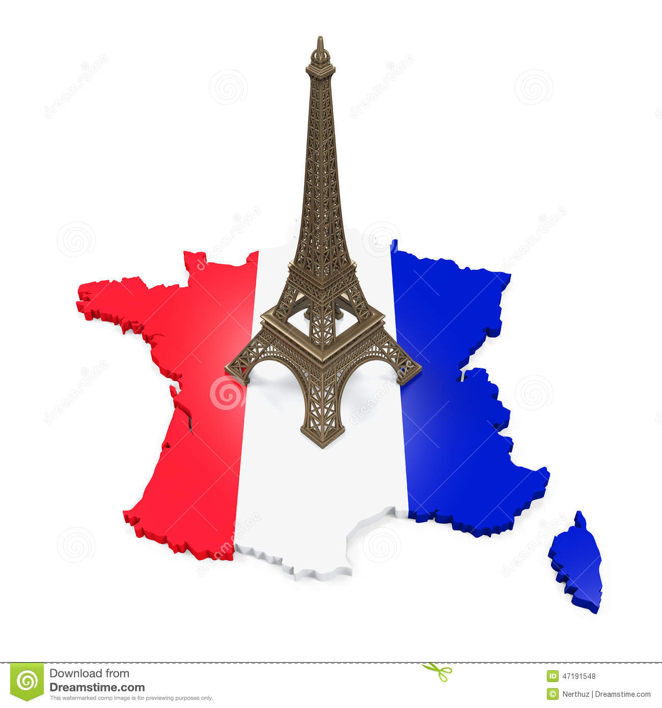 Map Of France Eiffel Tower.Map Of France And Eiffel Tower Stock Illustration Illustration Of