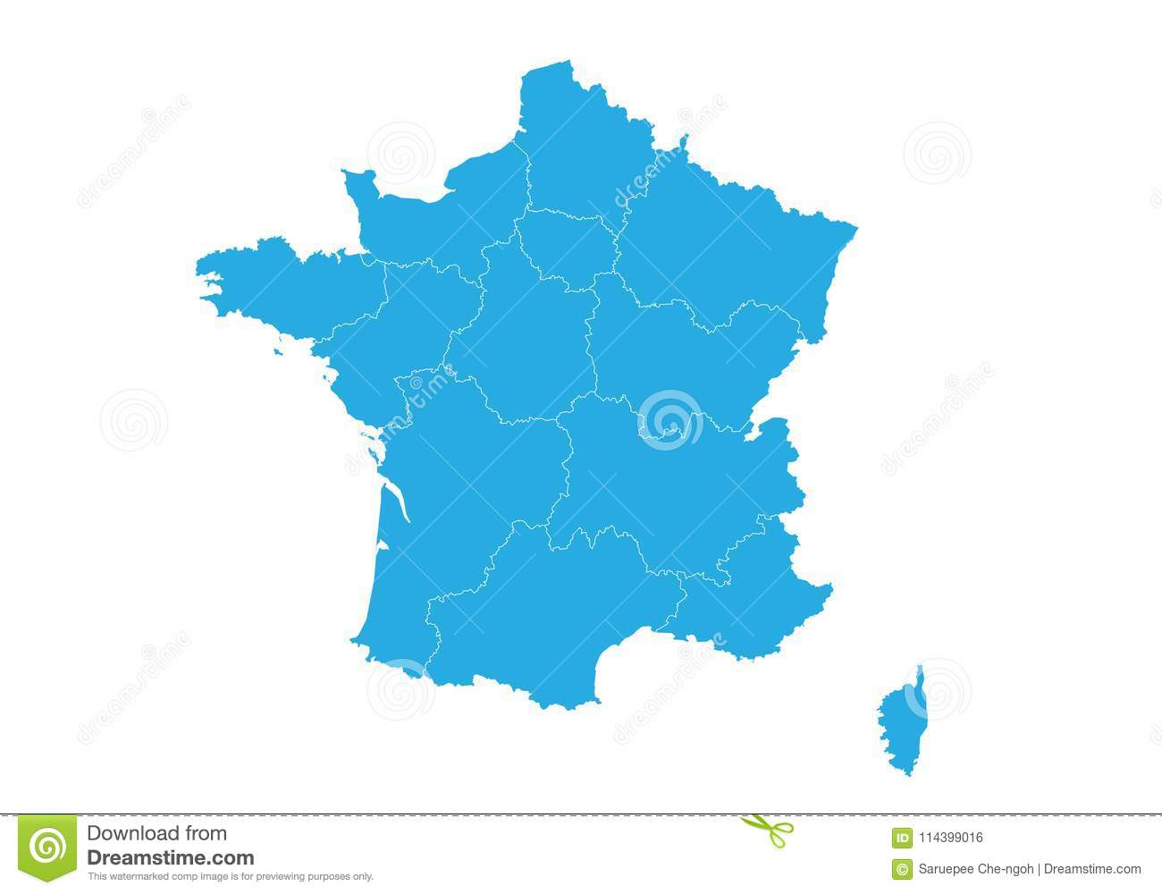 Map of france. High detailed vector map - france.