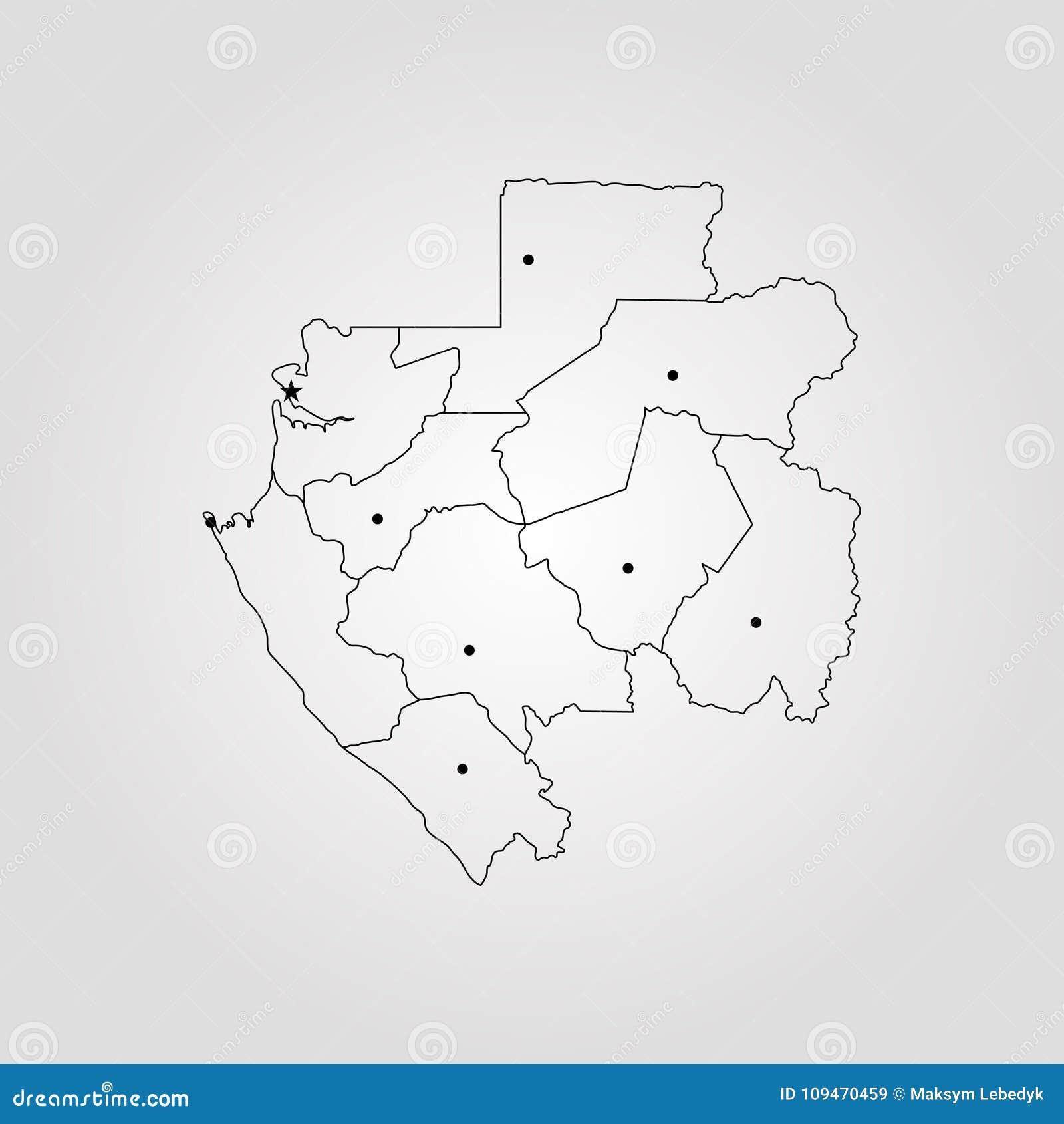 Gabon World Map.Map Of Gabon Stock Illustration Illustration Of Abstract 109470459
