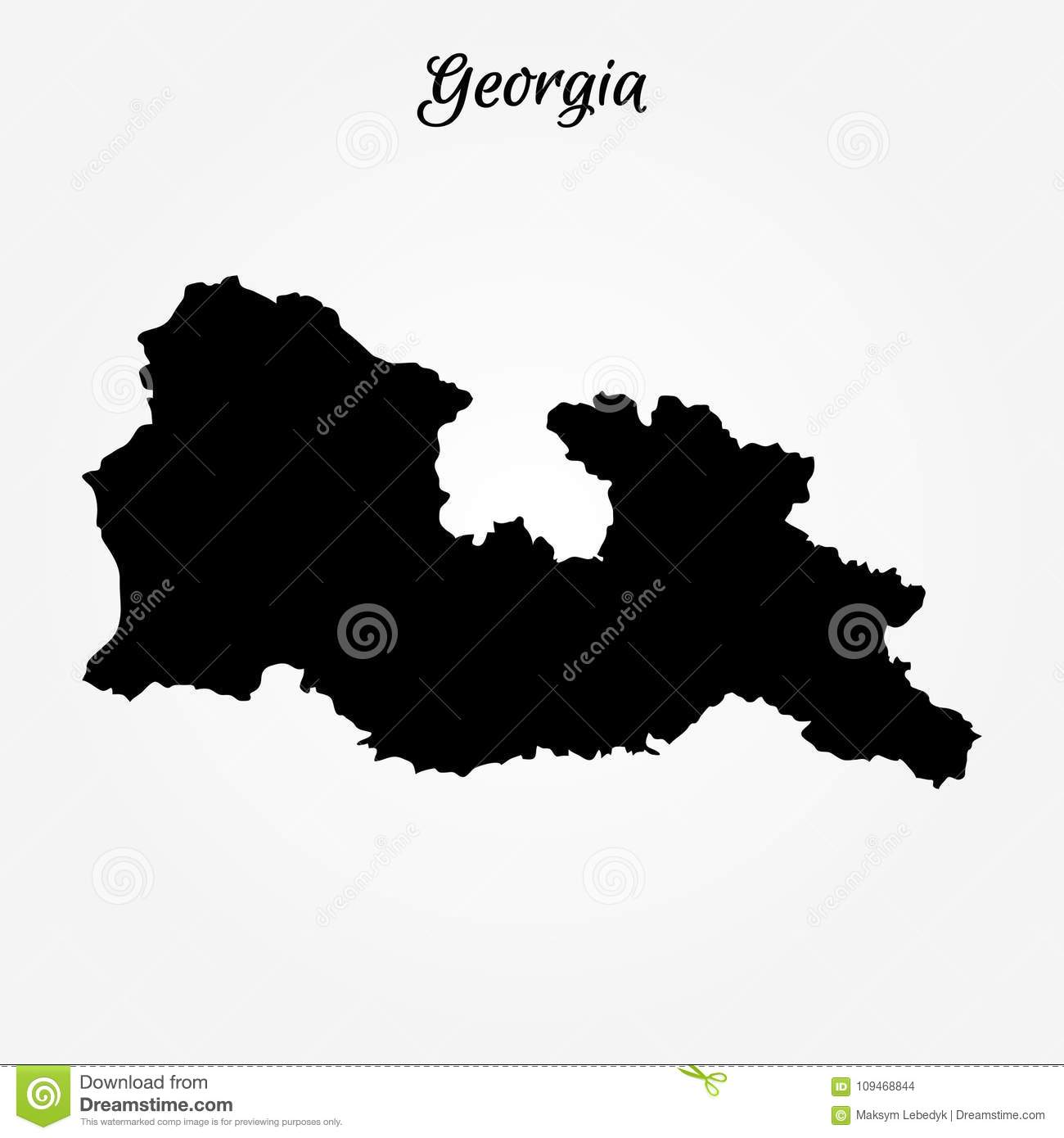 Map of georgia stock illustration illustration of georgian 109468844 map of georgia vector illustration world map gumiabroncs Images