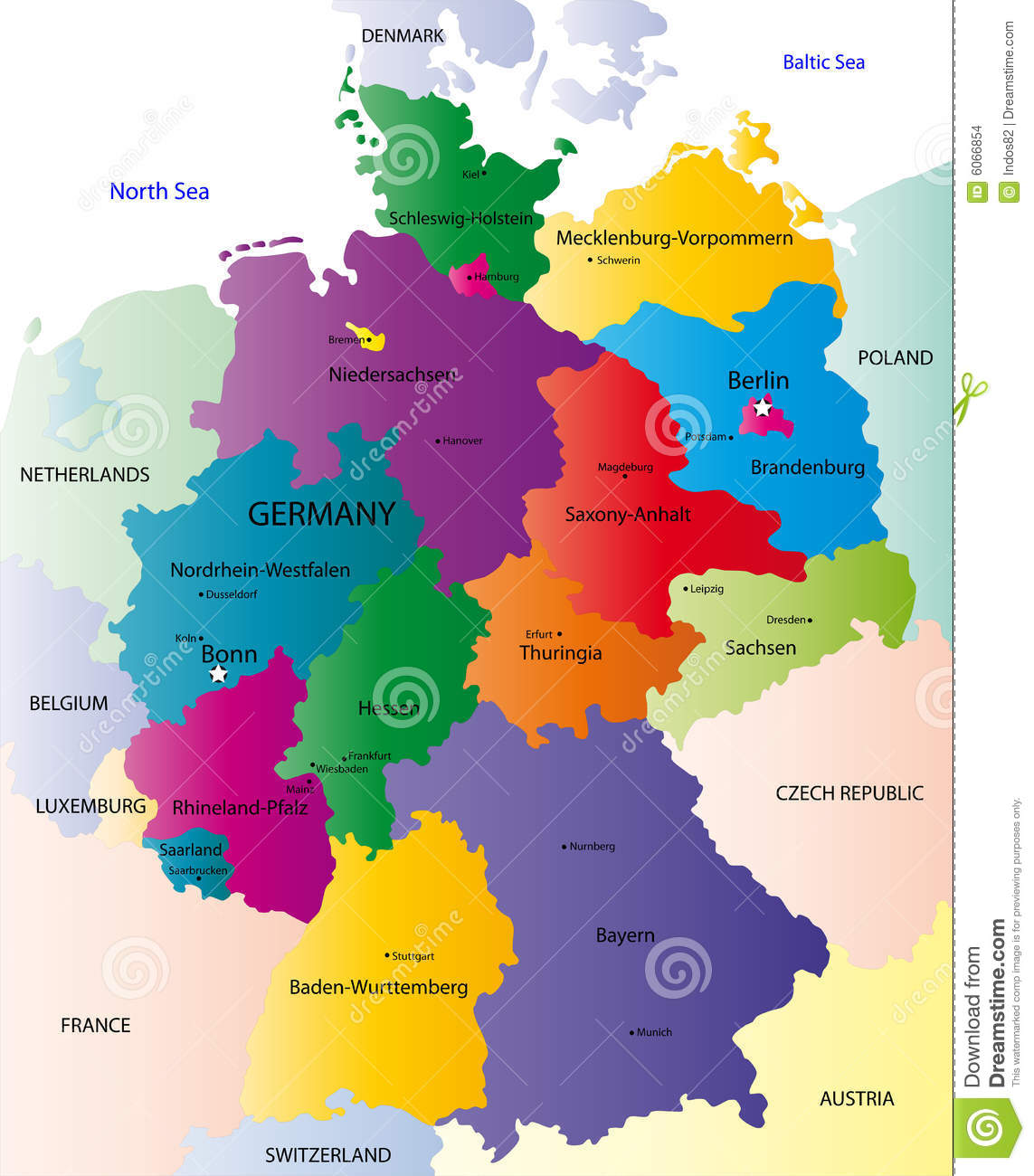 Map Of Germany And Surrounding Countries.Map Of Germany Stock Vector Illustration Of Illustration 6066854