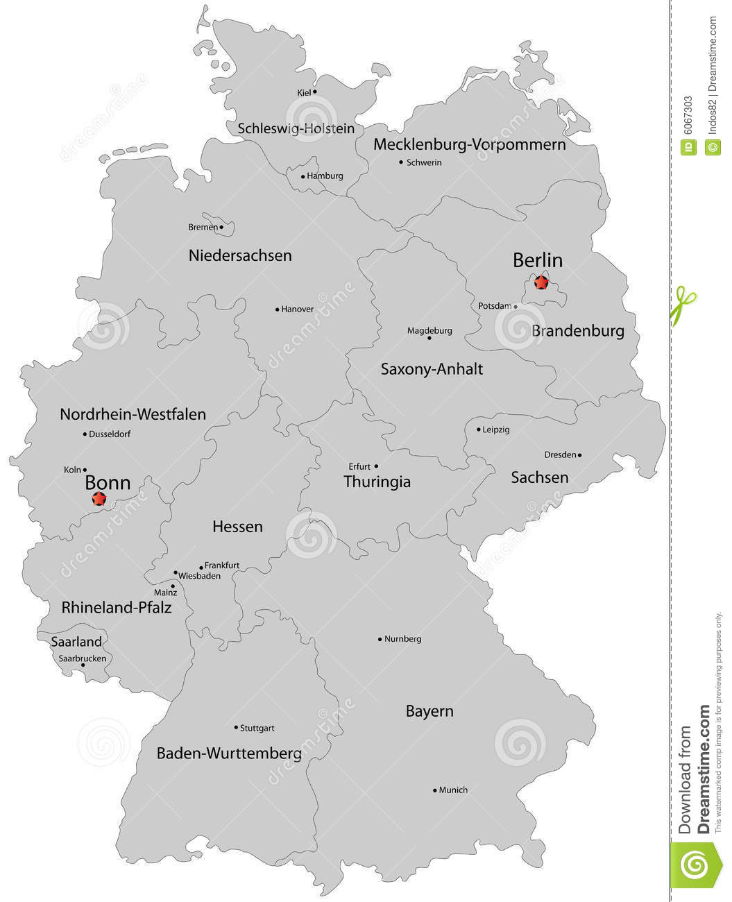 Map Of Germany Stock Vector Illustration Of Computer 6067303