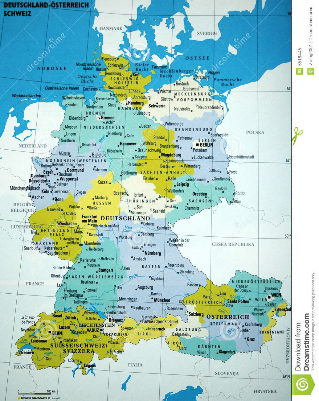 Map Of Germany Stock Image Image Of Republic Germany 6518445