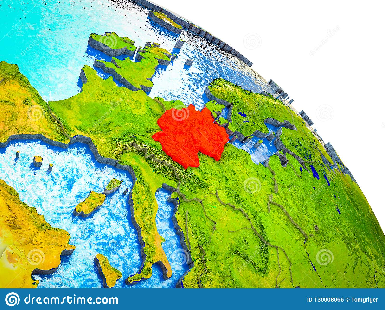 Map Of Germany 3d.Map Of Germany On 3d Earth Stock Illustration Illustration Of