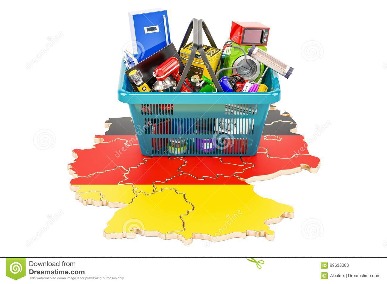 Map Of Germany For Sale.Map Of Germany With Shopping Basket Full Of Home And Kitchen App
