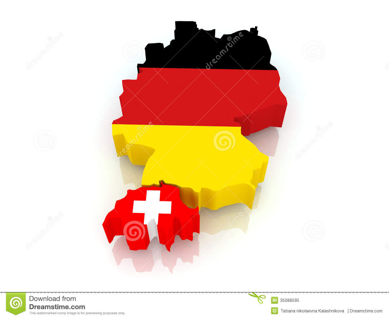 Map Of Germany And Switzerland.Map Of Germany And Switzerland Stock Illustration Illustration Of