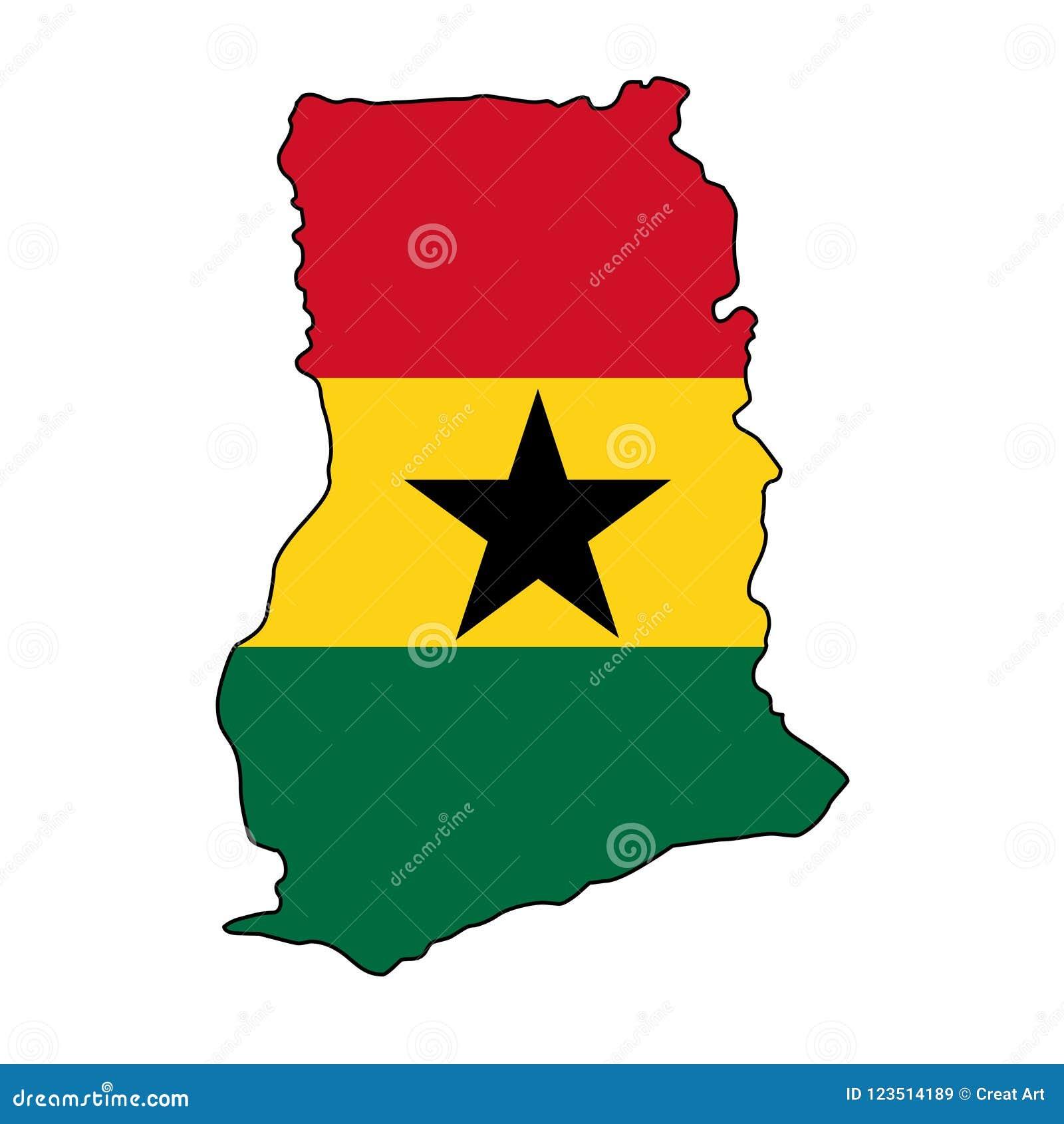 Ghana.Map Of Ghana Vector Illustration Stock Vector - Illustration ...