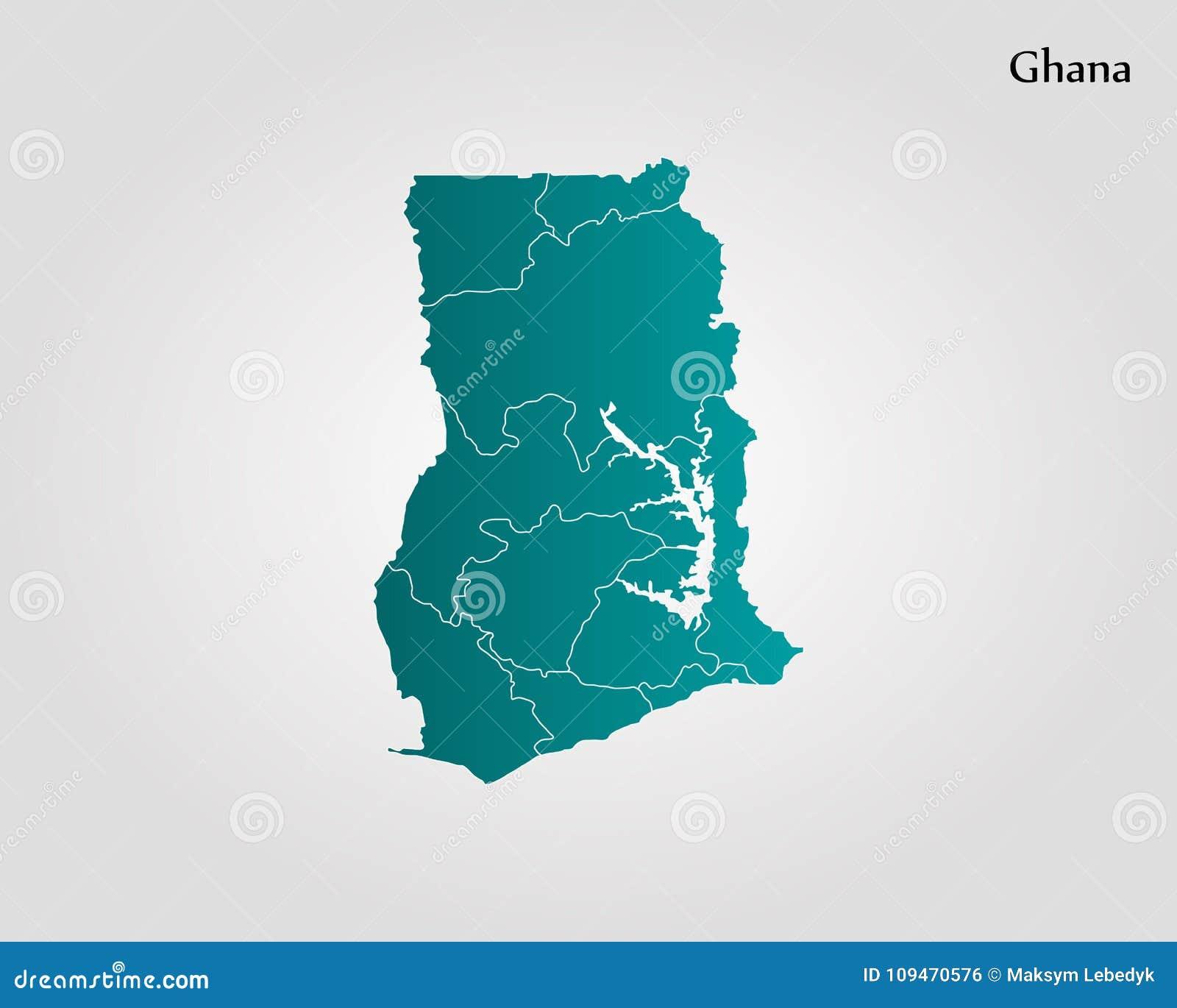 Map of Ghana stock illustration. Illustration of design - 109470576