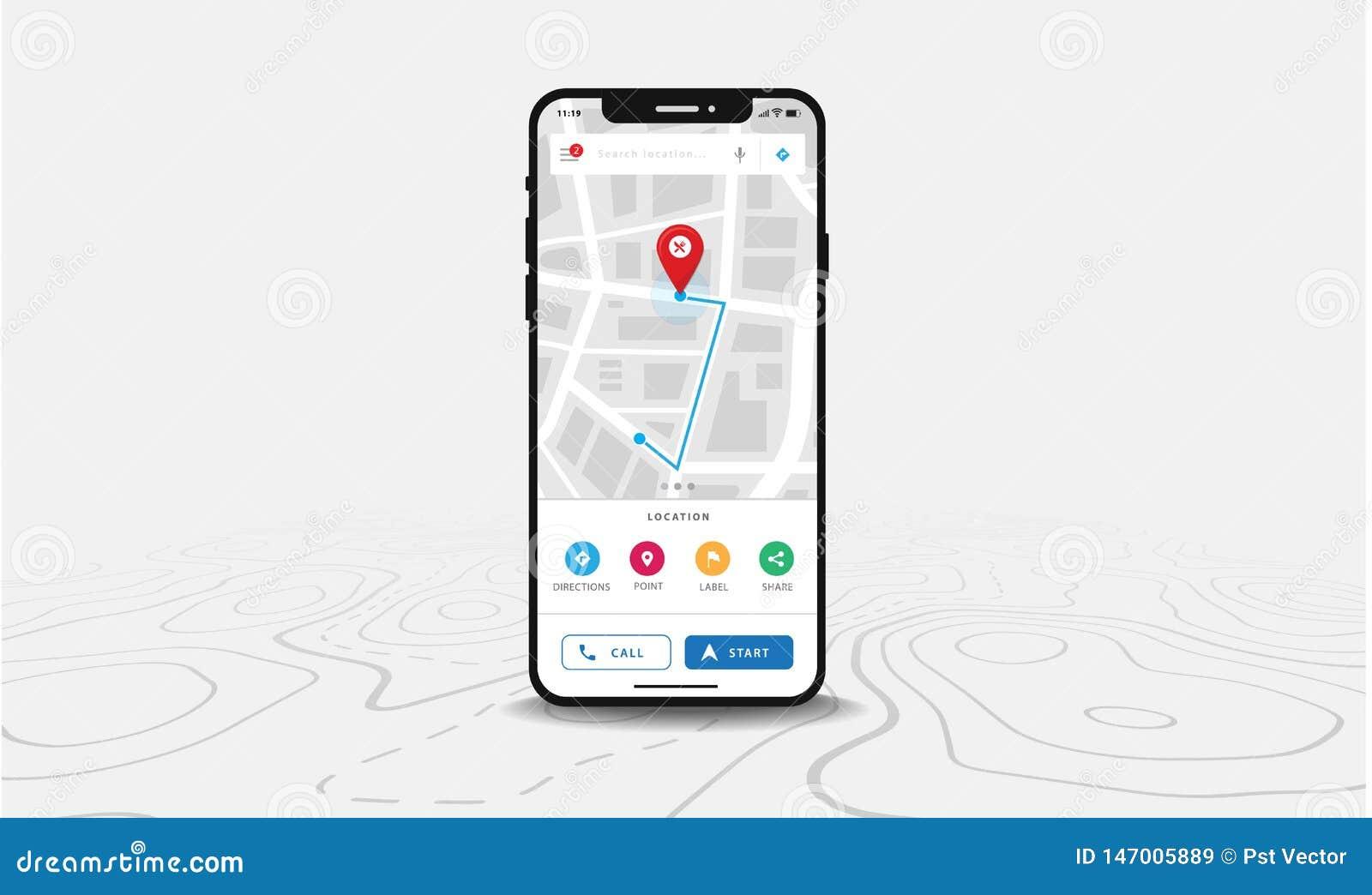 Map GPS Navigation, Smartphone Map Application And Red ... Map Navigation App on technology app, golf gps app, health app, star chart app, climate control app, insurance app, travel app, clothing app, language app, food app, menu app, business app, gps tracking app, construction app, communication app, education app,