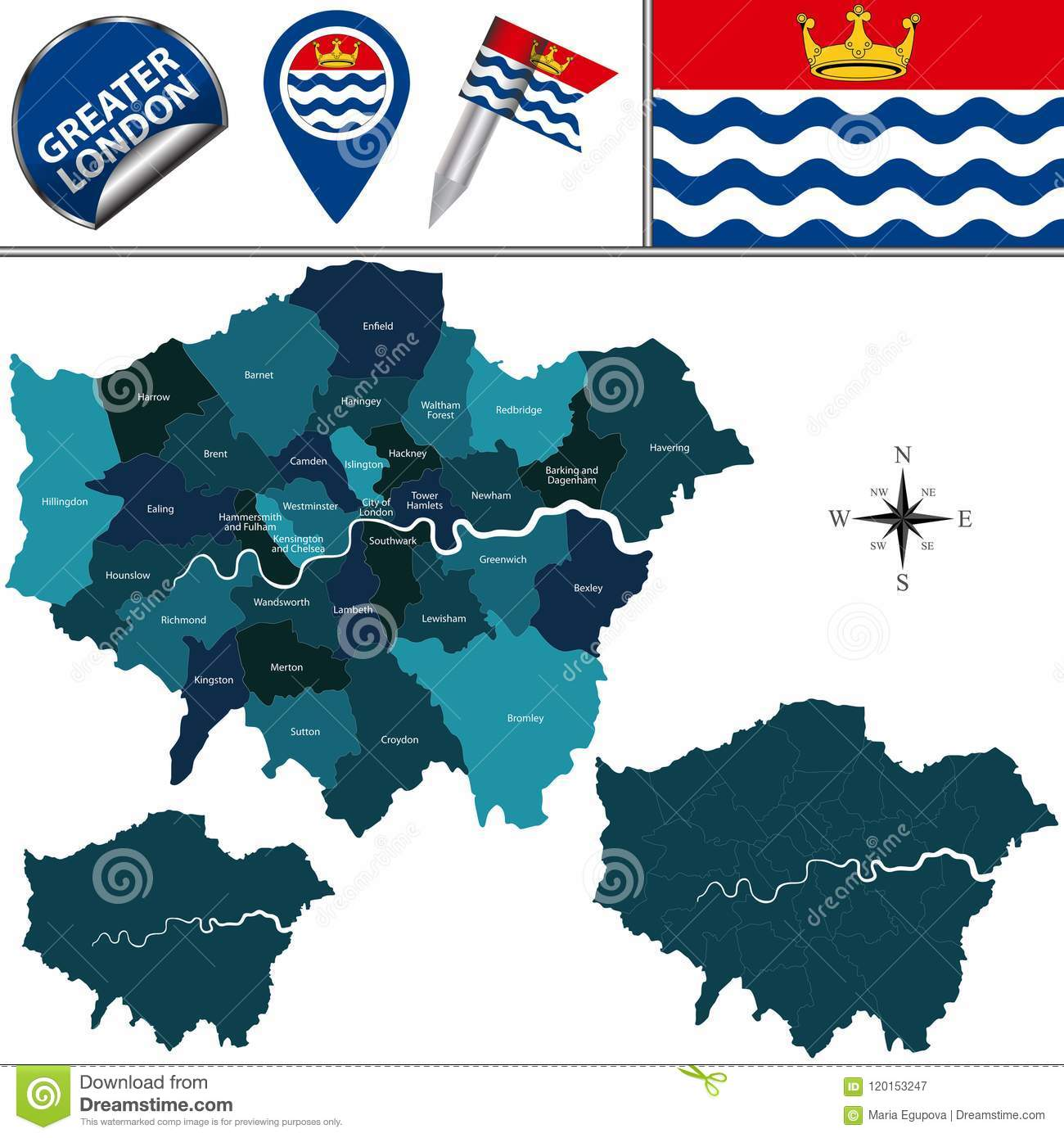Map Of Greater London Area Uk.Map Of Greater London Uk Stock Vector Illustration Of English