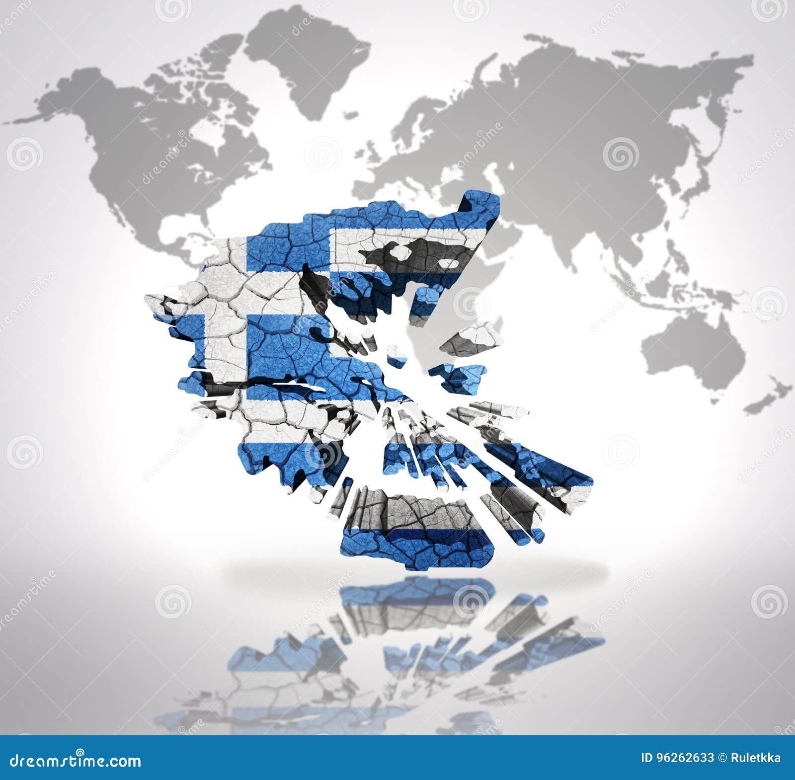 Map of Greece stock illustration. Illustration of print - 96262633