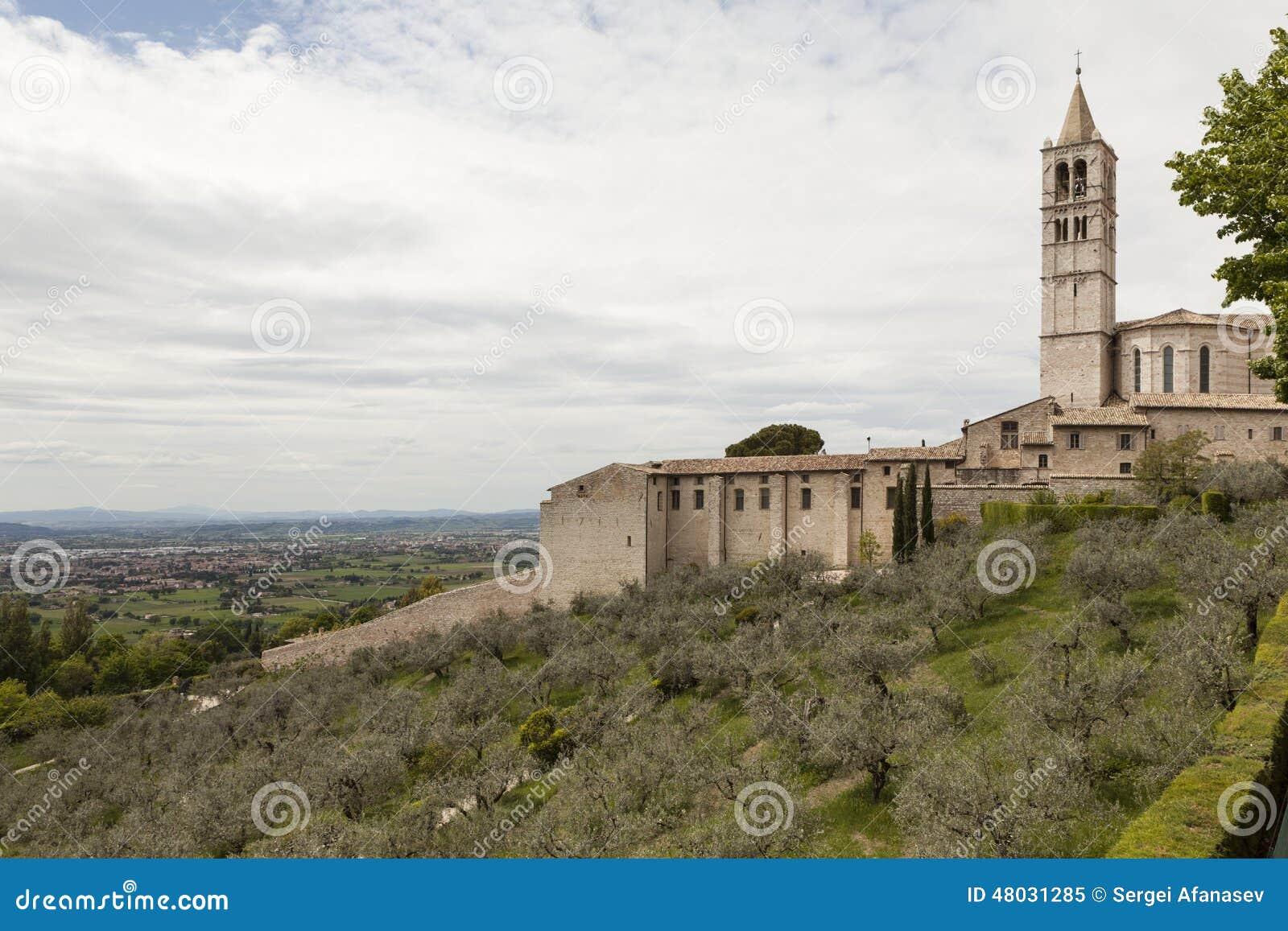 Map Of Gubbio Umbria Italy Stock Image Image Of Panorama