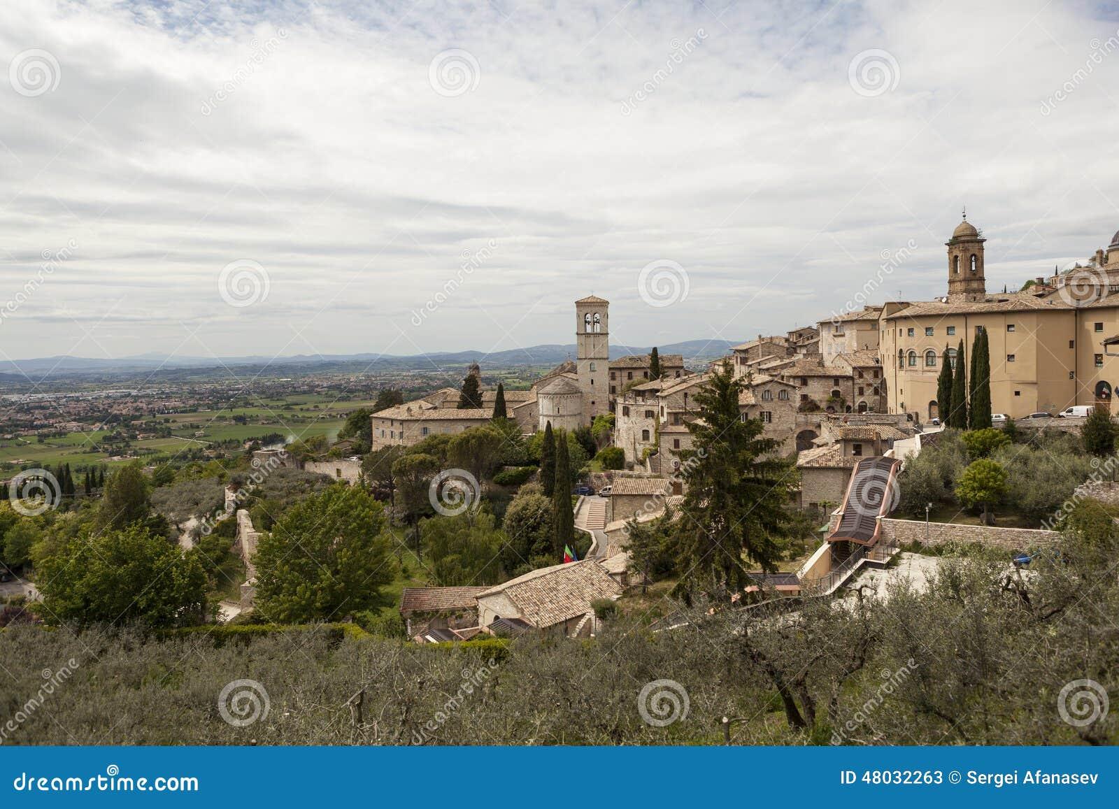 Map Of Gubbio Umbria Italy Stock Image Image Of Gubbio Italy