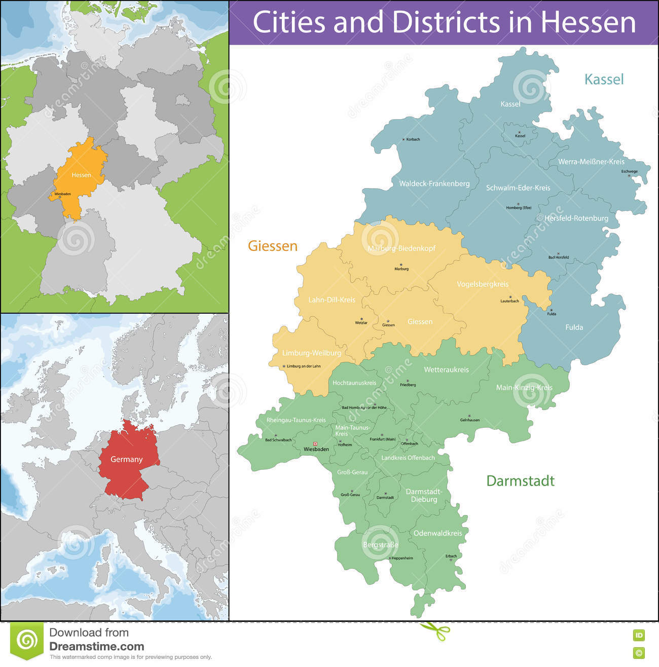 Map Of Germany Over The Years.Map Of Hesse Stock Vector Illustration Of European Contour 79201412