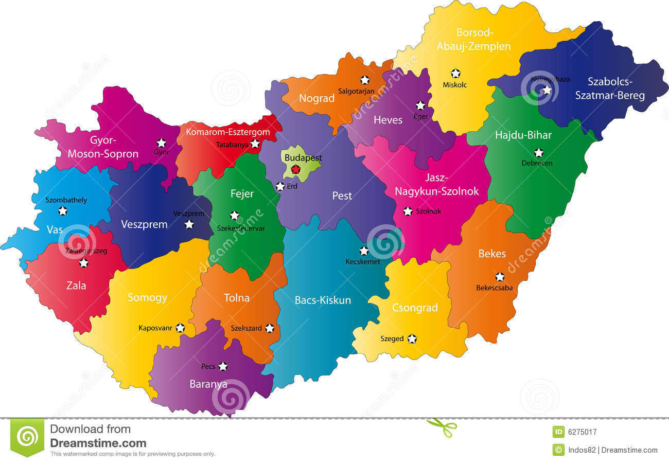Map Of Hungary Royalty Free Stock Photography Image 6275017