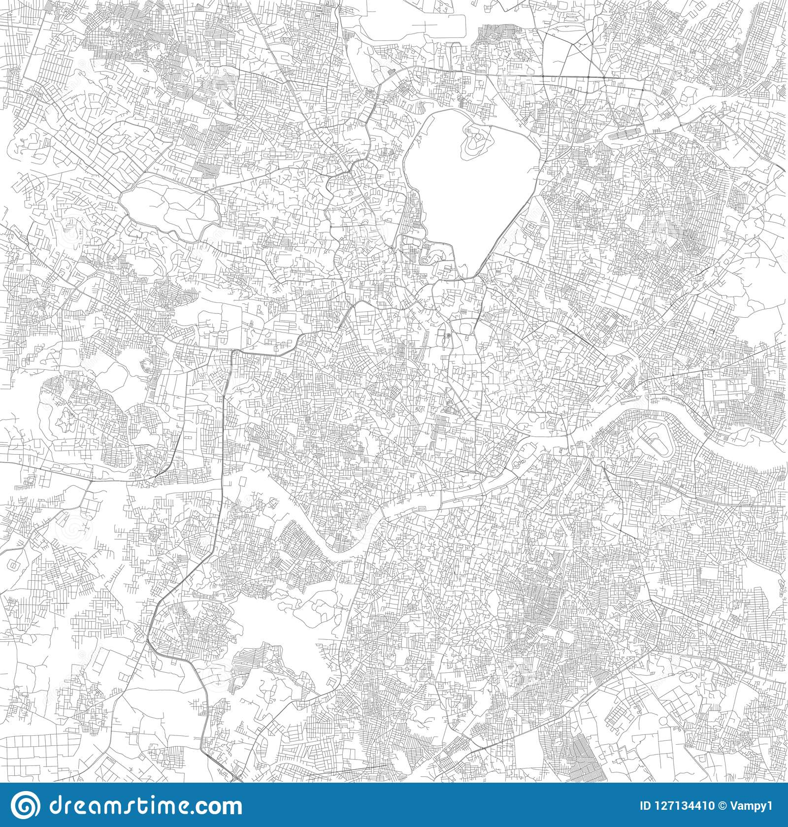 Hyderabad On India Map.Map Of Hyderabad Telangana Satellite View Black And White Map