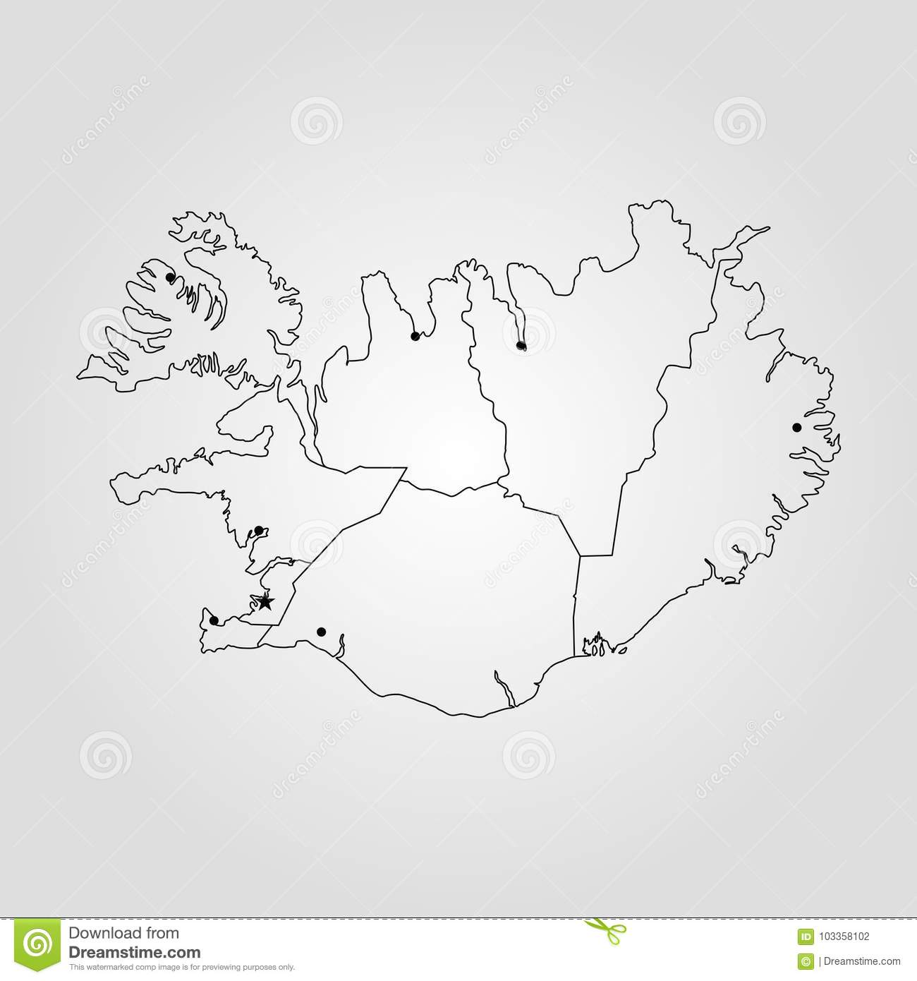 Map of iceland stock illustration illustration of land 103358102 map of iceland vector illustration world map gumiabroncs Images