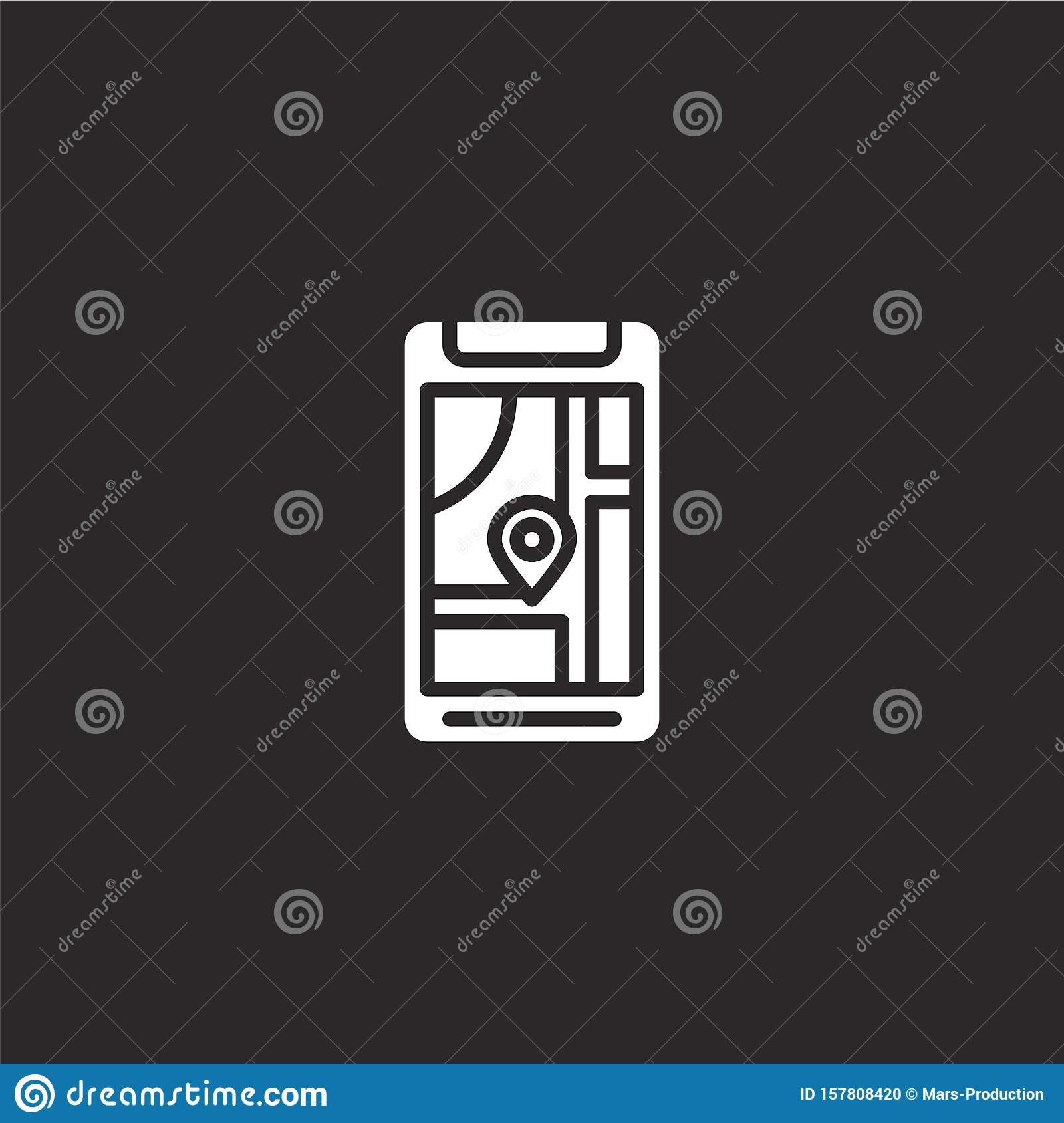 map icon. Filled map icon for website design and mobile, app development. map icon from filled smartphone collection isolated on