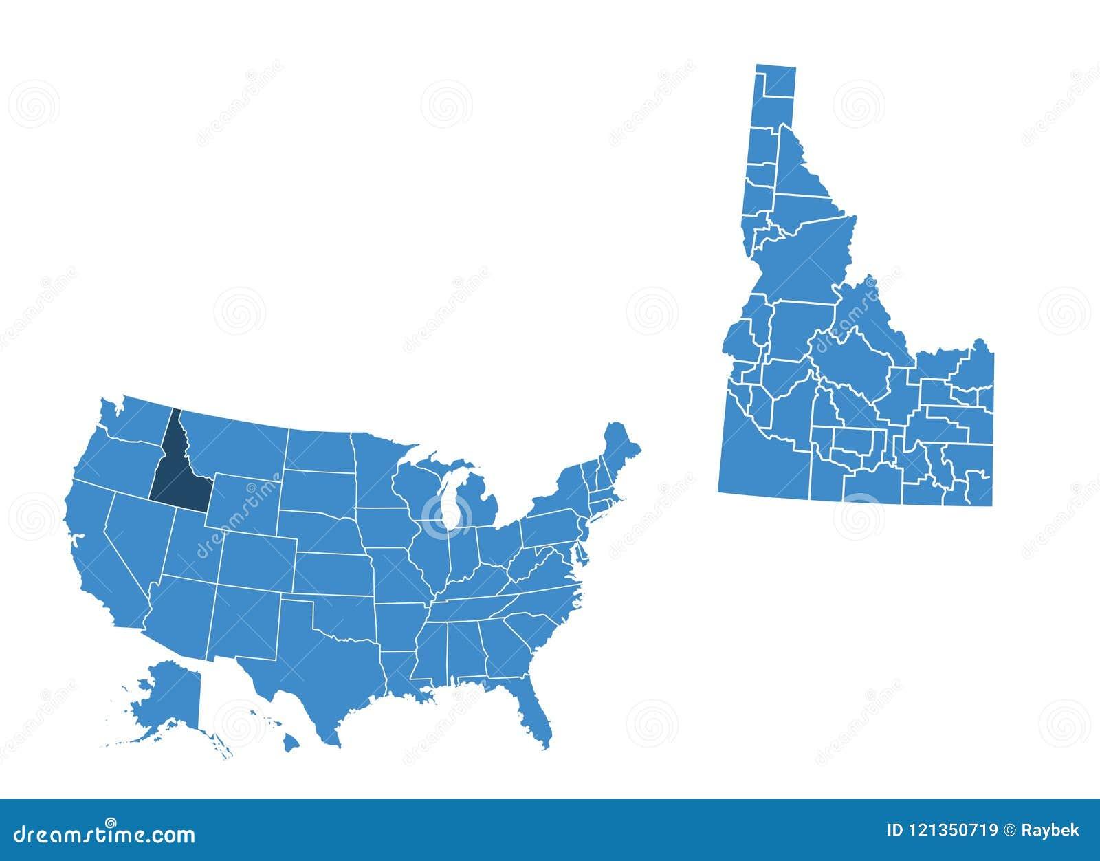 Map of Idaho state