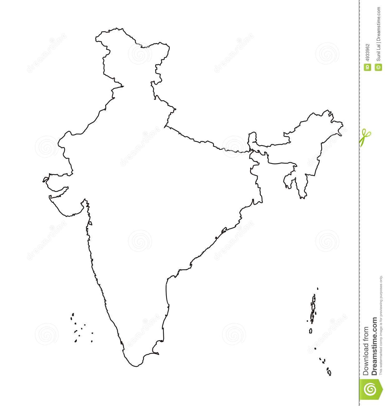Map Of India Outline Authentic Stock Illustration Illustration Of