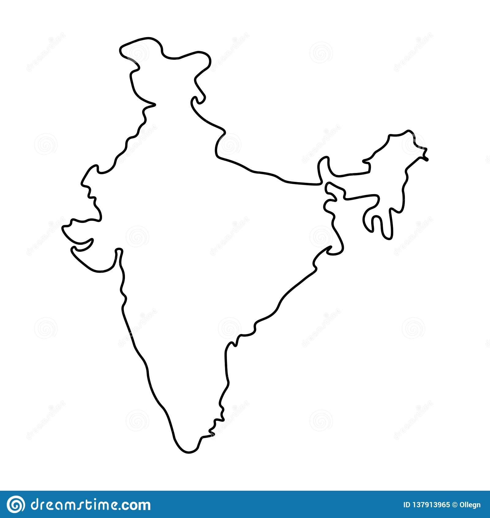 india map outline vector Map Of India Outline Stock Illustration Illustration Of Flat india map outline vector