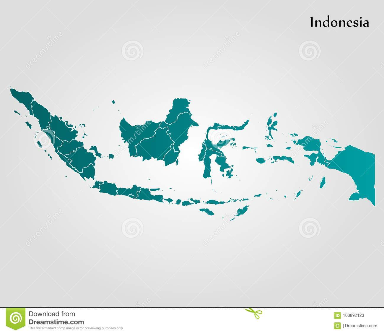 Map of Indonesia stock illustration. Illustration of indonesian ...