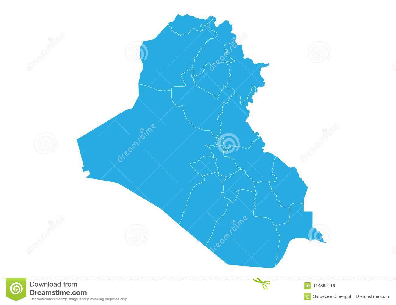 Map Of Iraq. High Detailed Vector Map - Iraq. Stock Vector ...