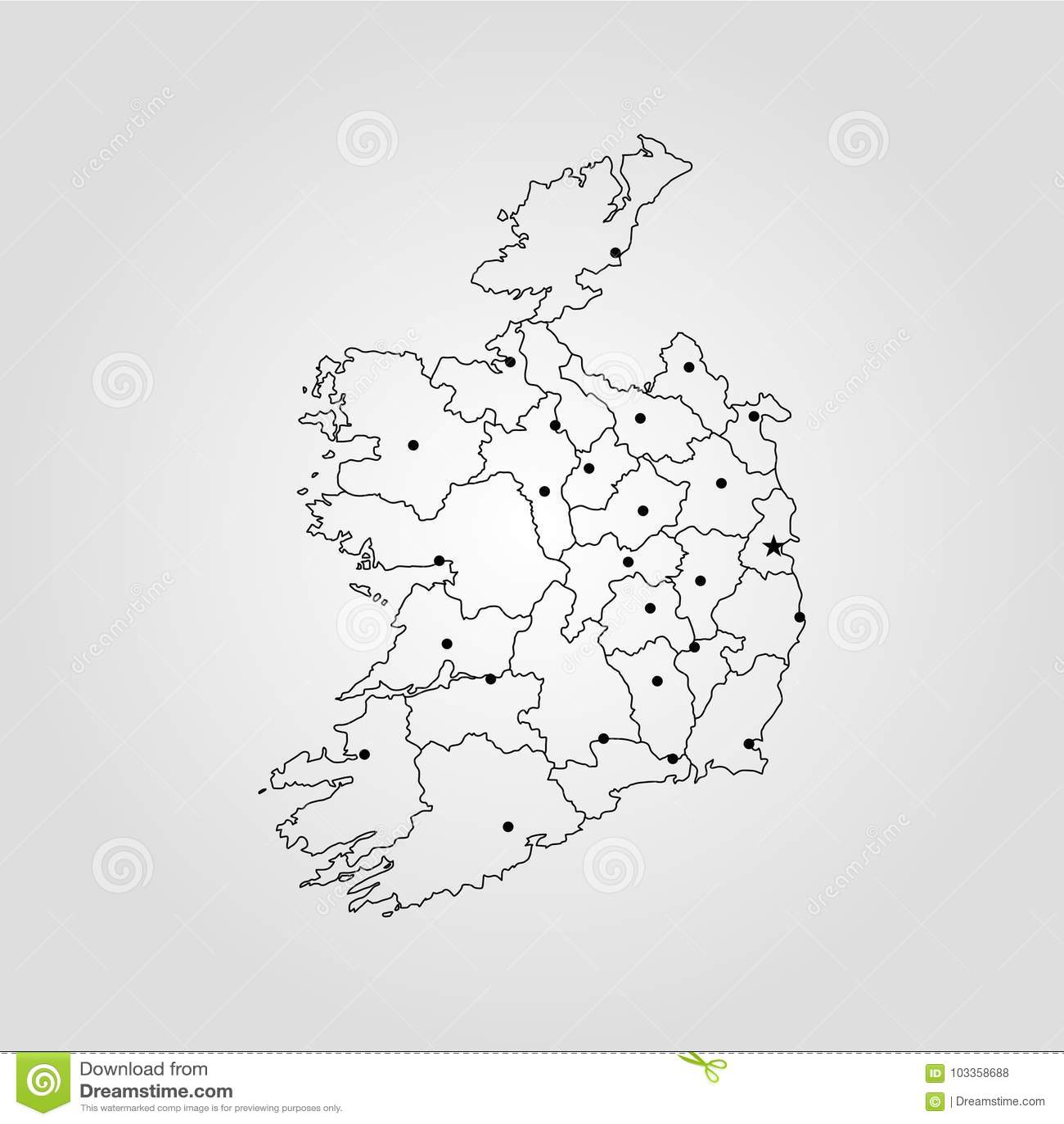 Map Of Ireland Stock Illustration Illustration Of Europe 103358688