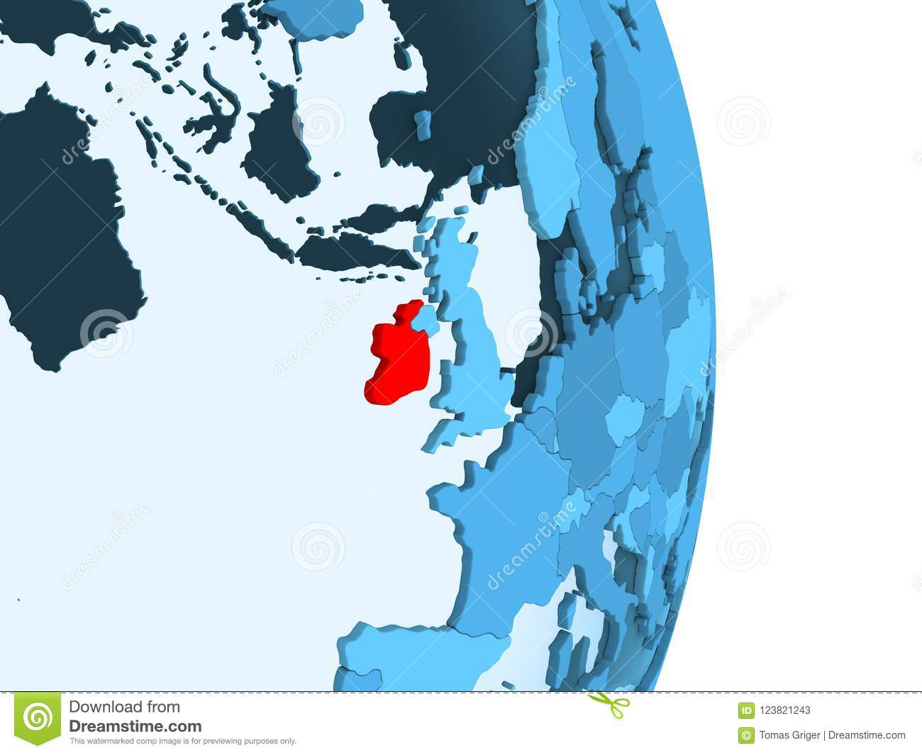 Simple Map Of Ireland.Map Of Ireland In Red Stock Illustration Illustration Of Symbol