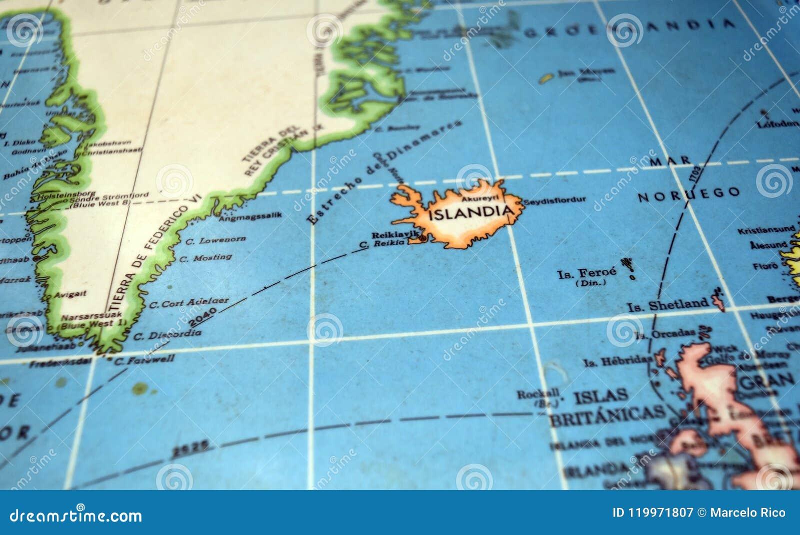 Iceland Map Stock Image Image Of Britanicas Mapa Noruego