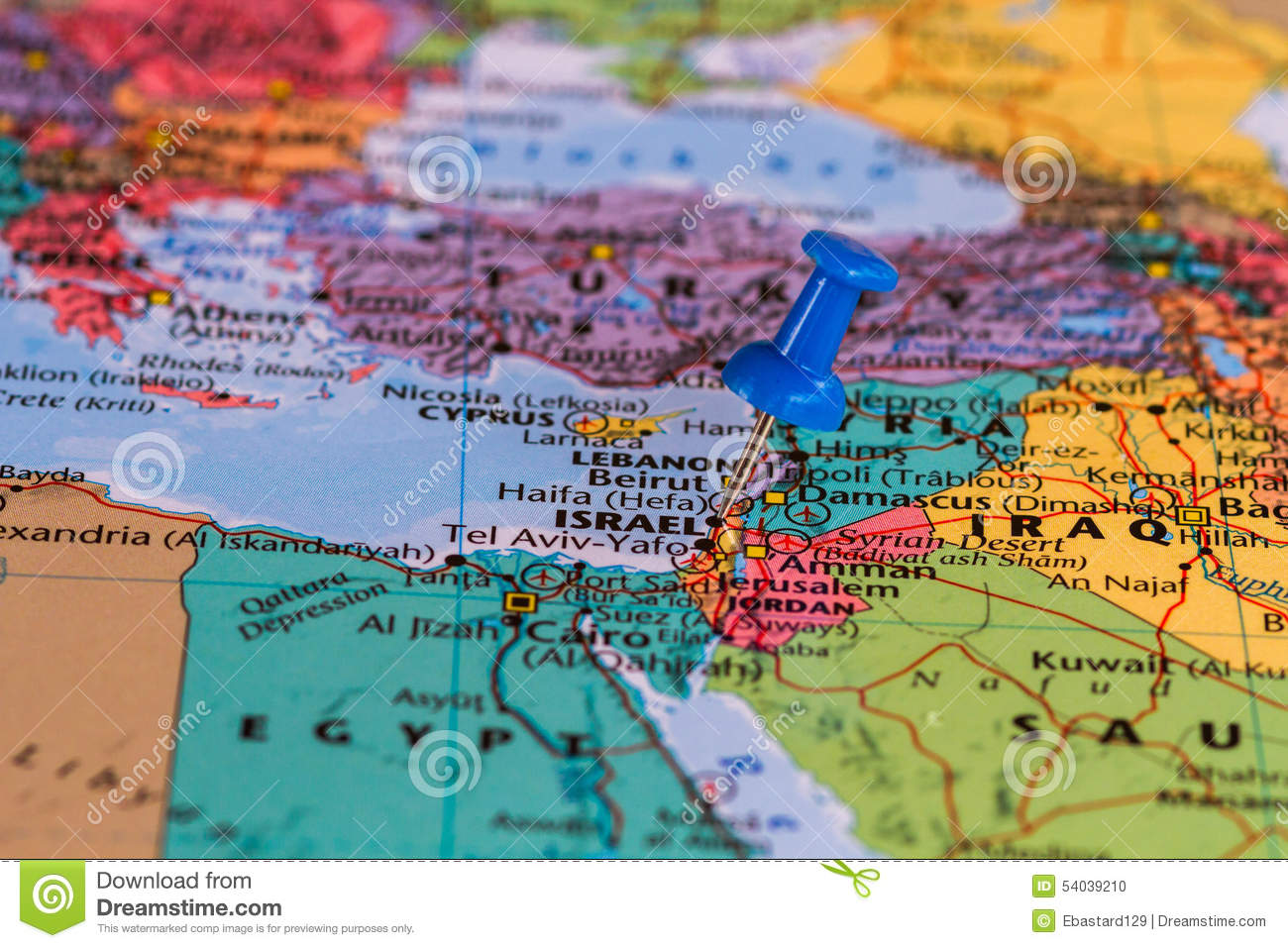 Map Of Israel Stock Photo Image Of Page Start Geography 54039210