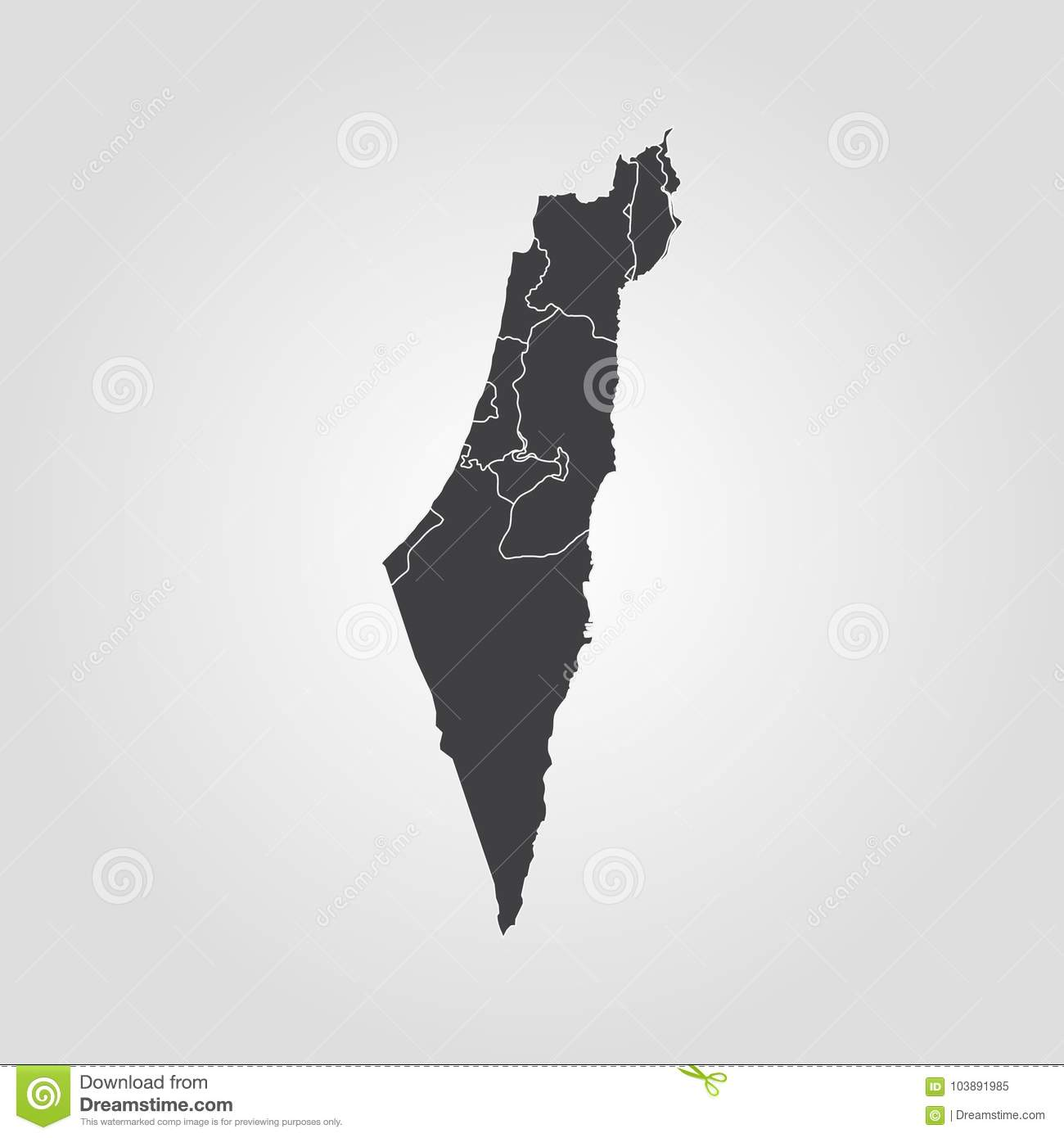 Map of israel stock illustration illustration of empty 103891985 download comp gumiabroncs Gallery