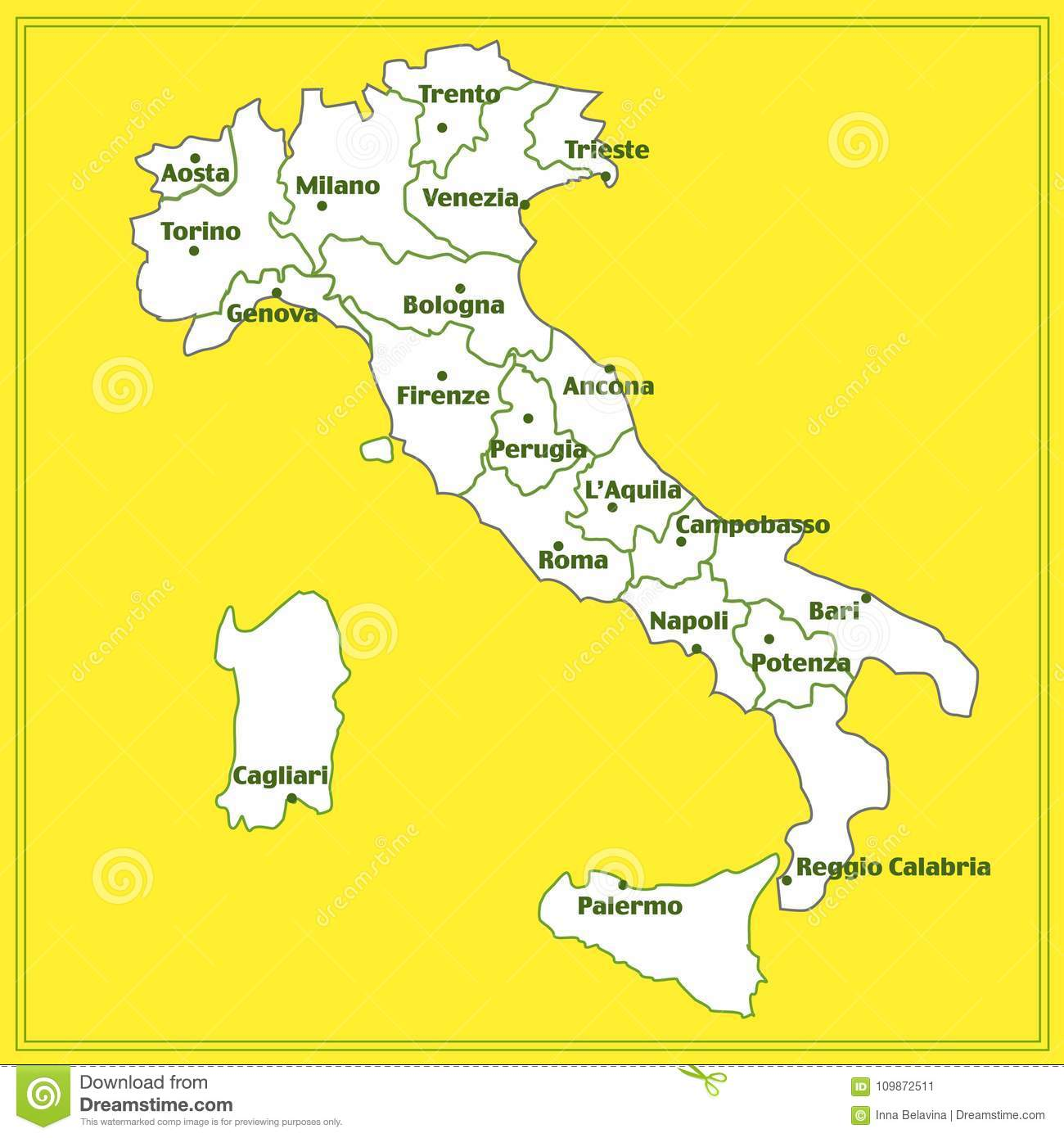 Map Of Italy In Italian.Map Of Italy With Red Background Italy Map With Italian Big Cities